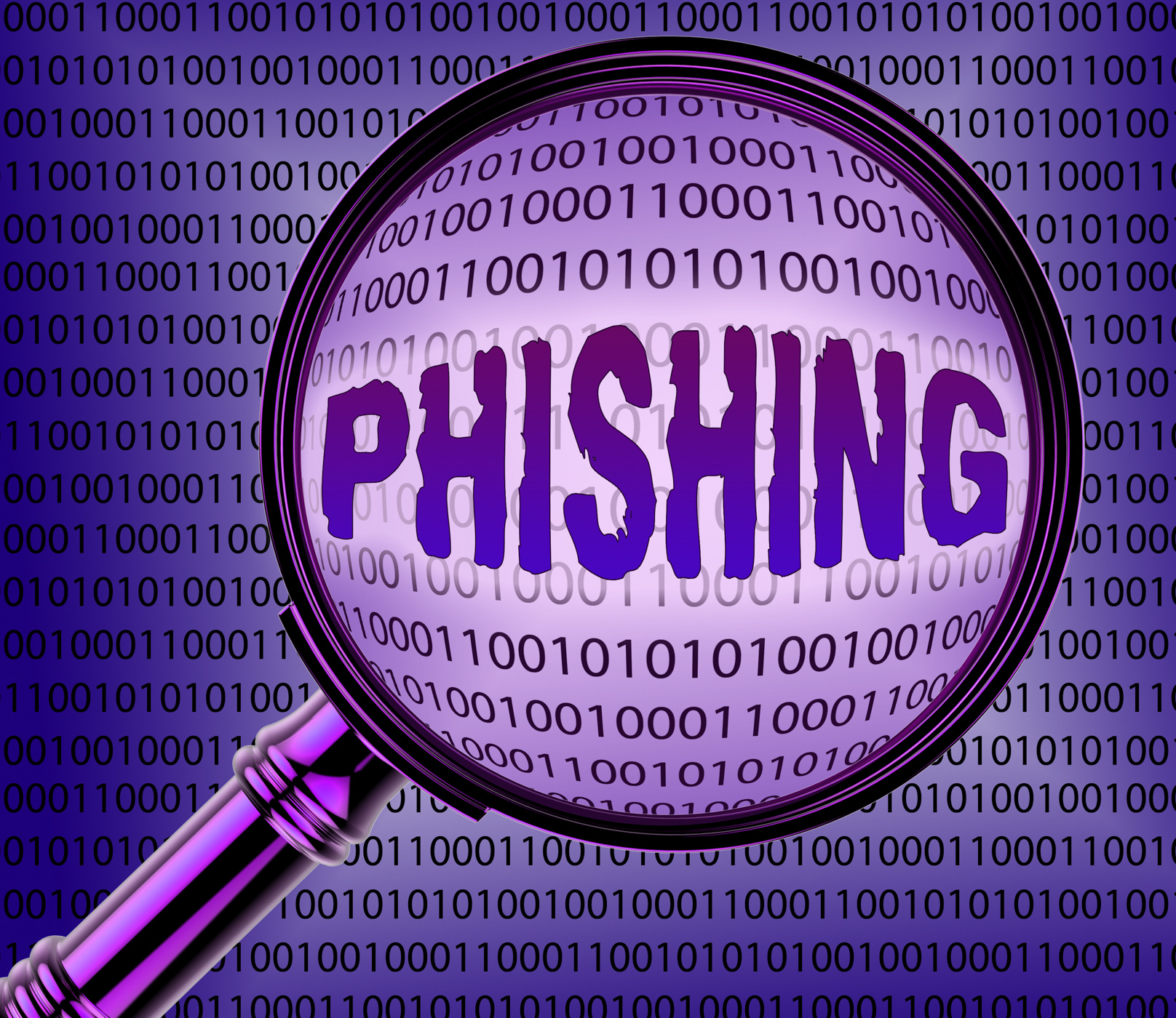 Computer phishing means magnifier magnifying and internet photo