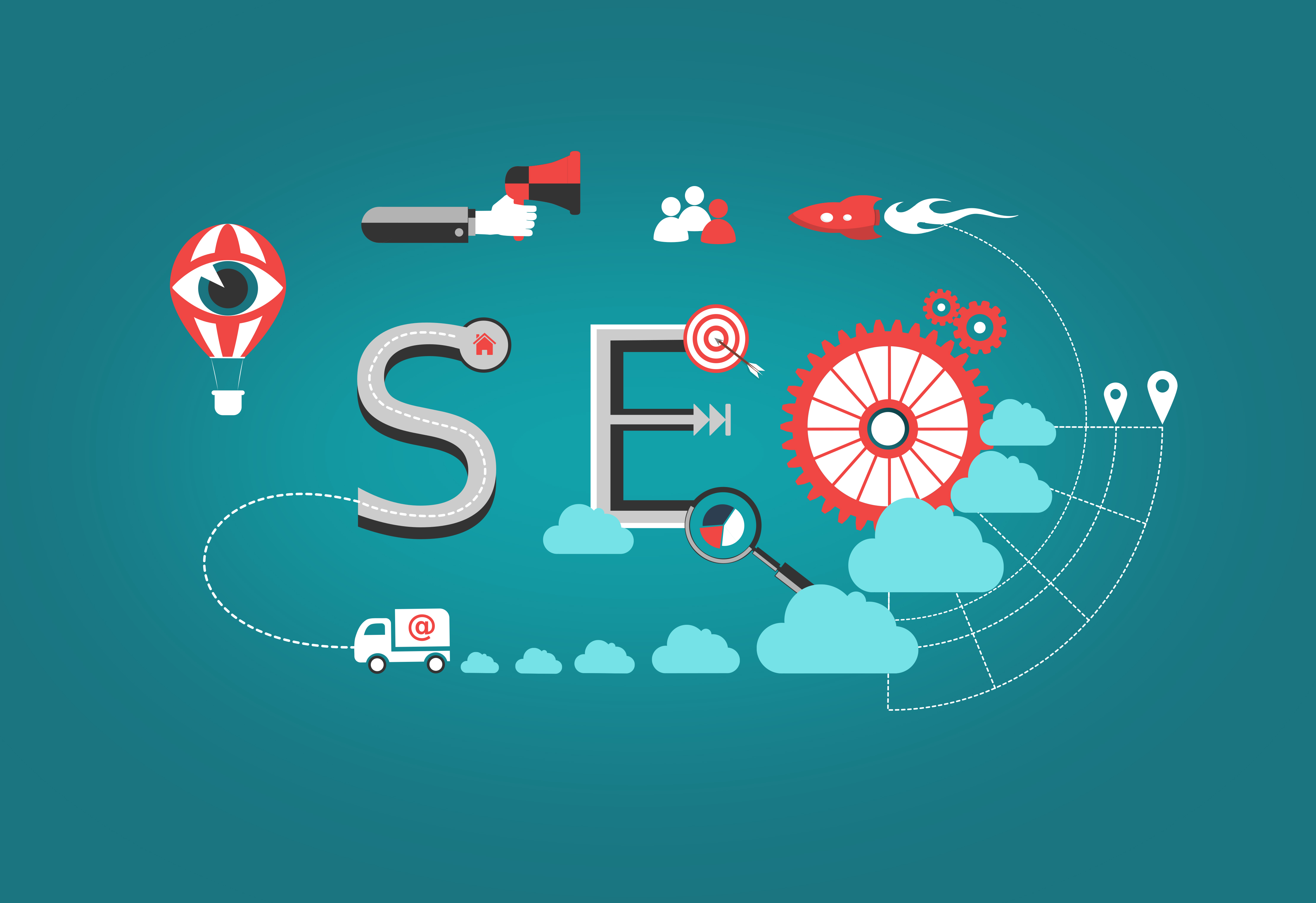 Concept of search engine optimization photo