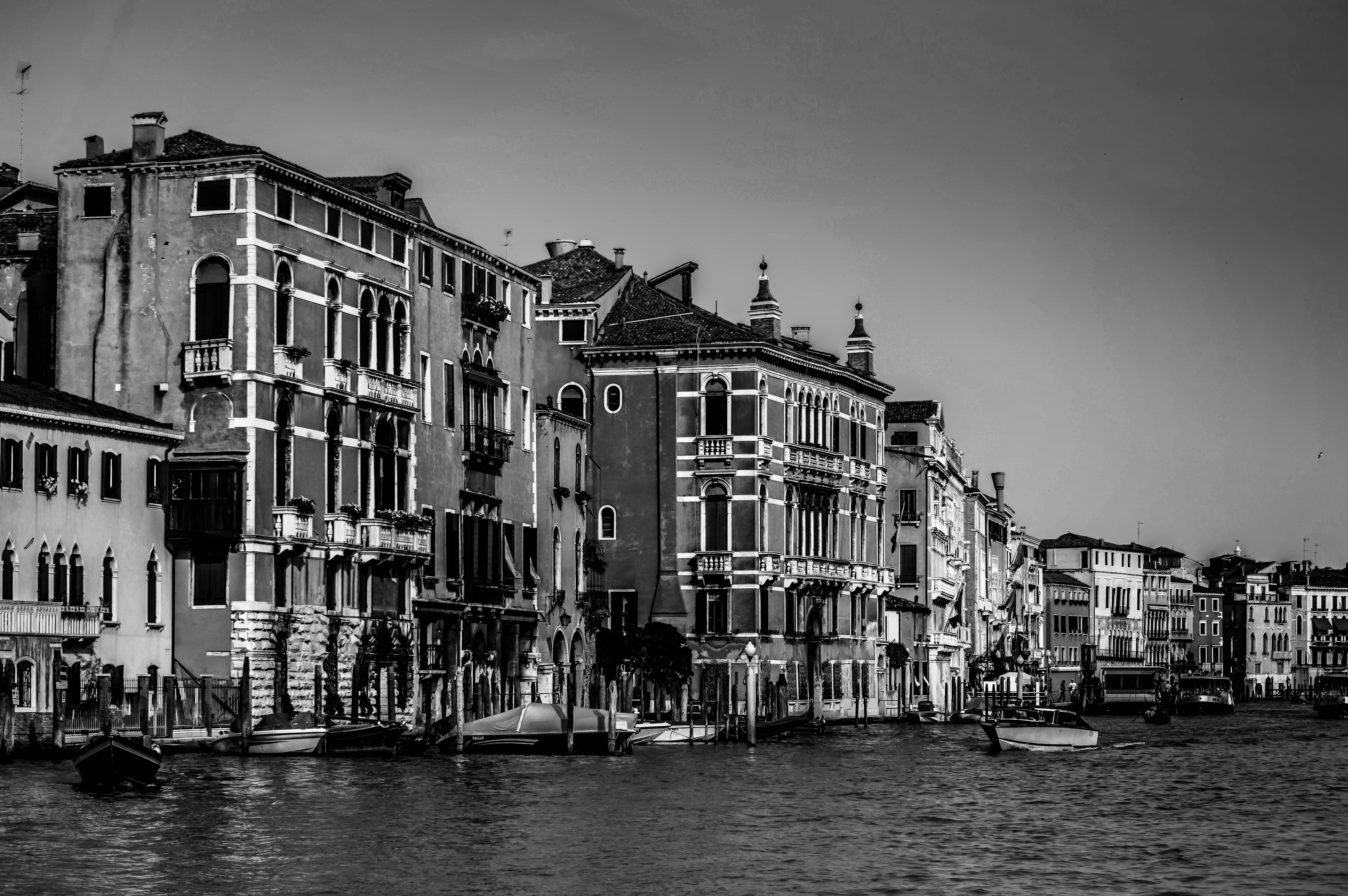 Concrete Houses Beside Body of Water, Outdoors, Watercraft, Water, Venice, HQ Photo