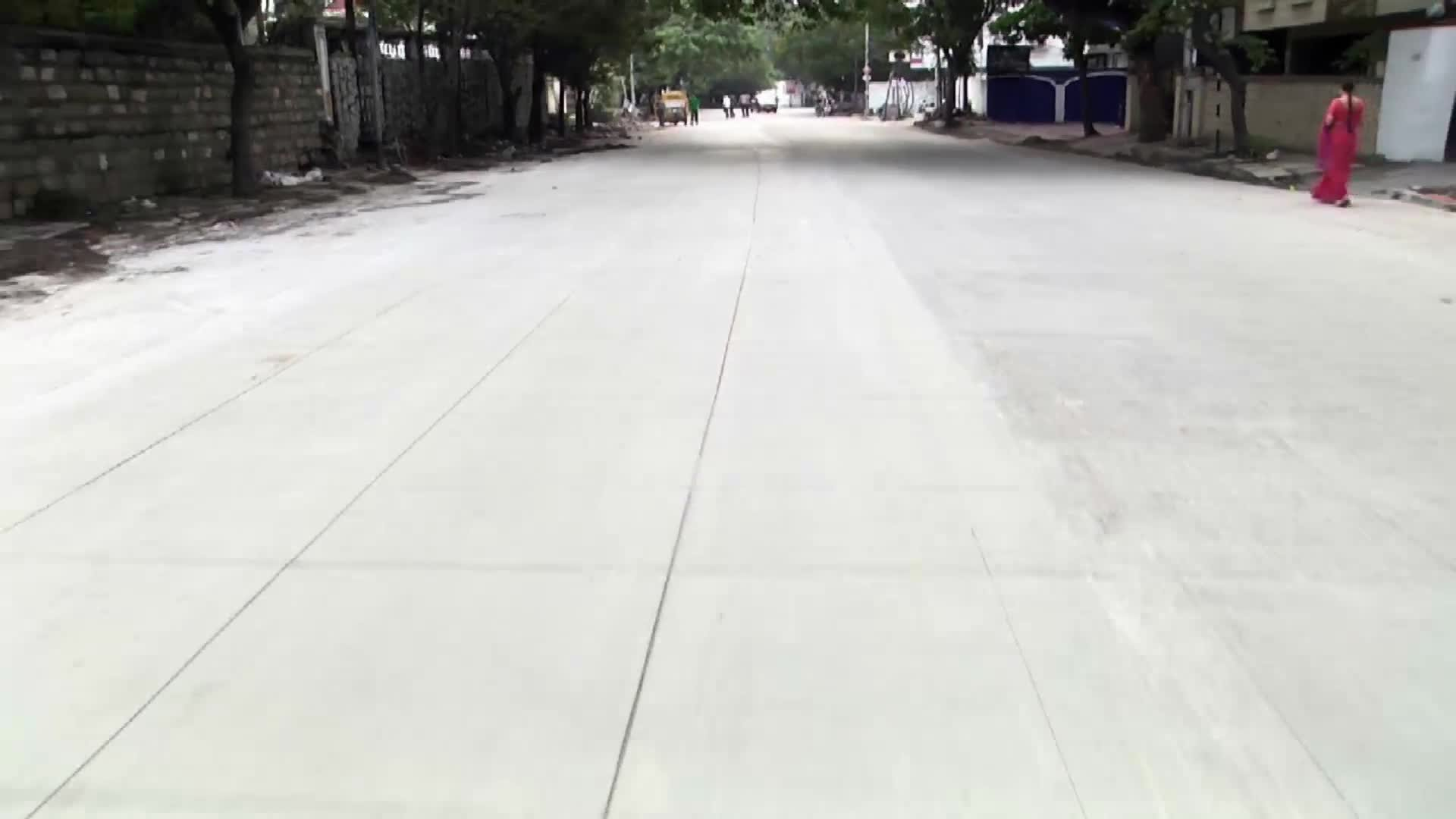 Concrete white Topping Road in Hyderabad - hybiz - YouTube