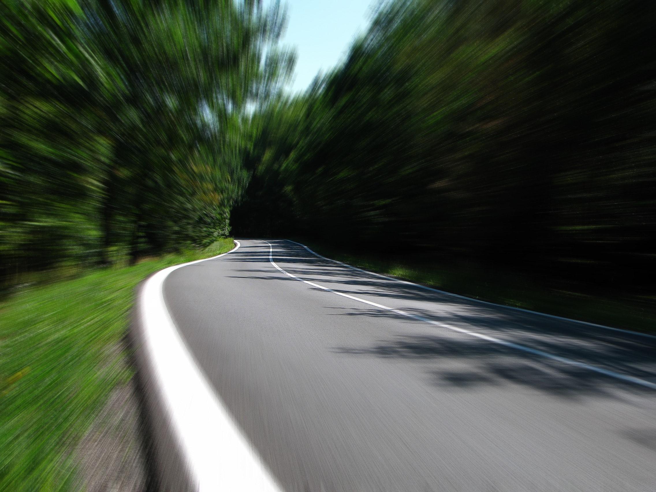Concrete Road, Asphalt, Blurry, Highway, Lane, HQ Photo