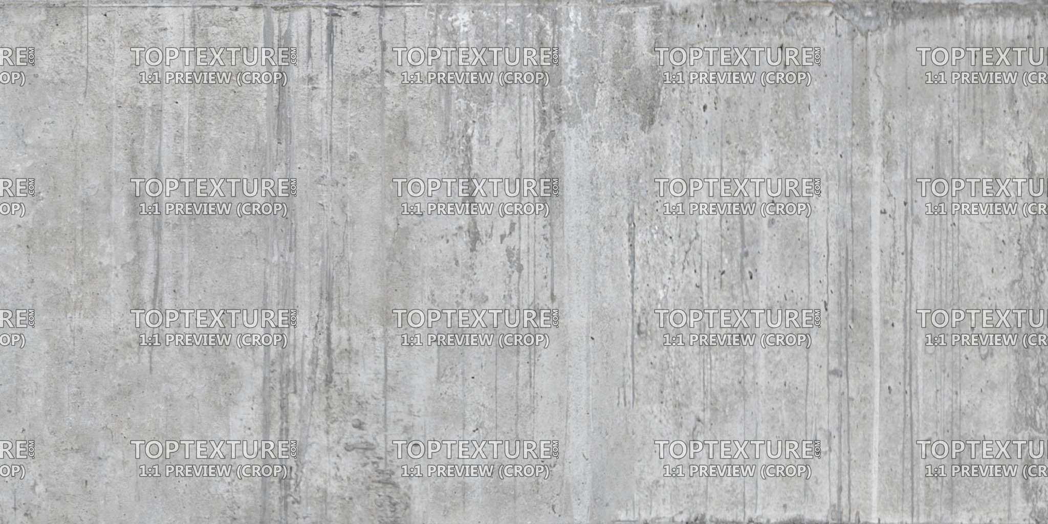 Long Concrete Wall Leaking Grunge - Top Texture