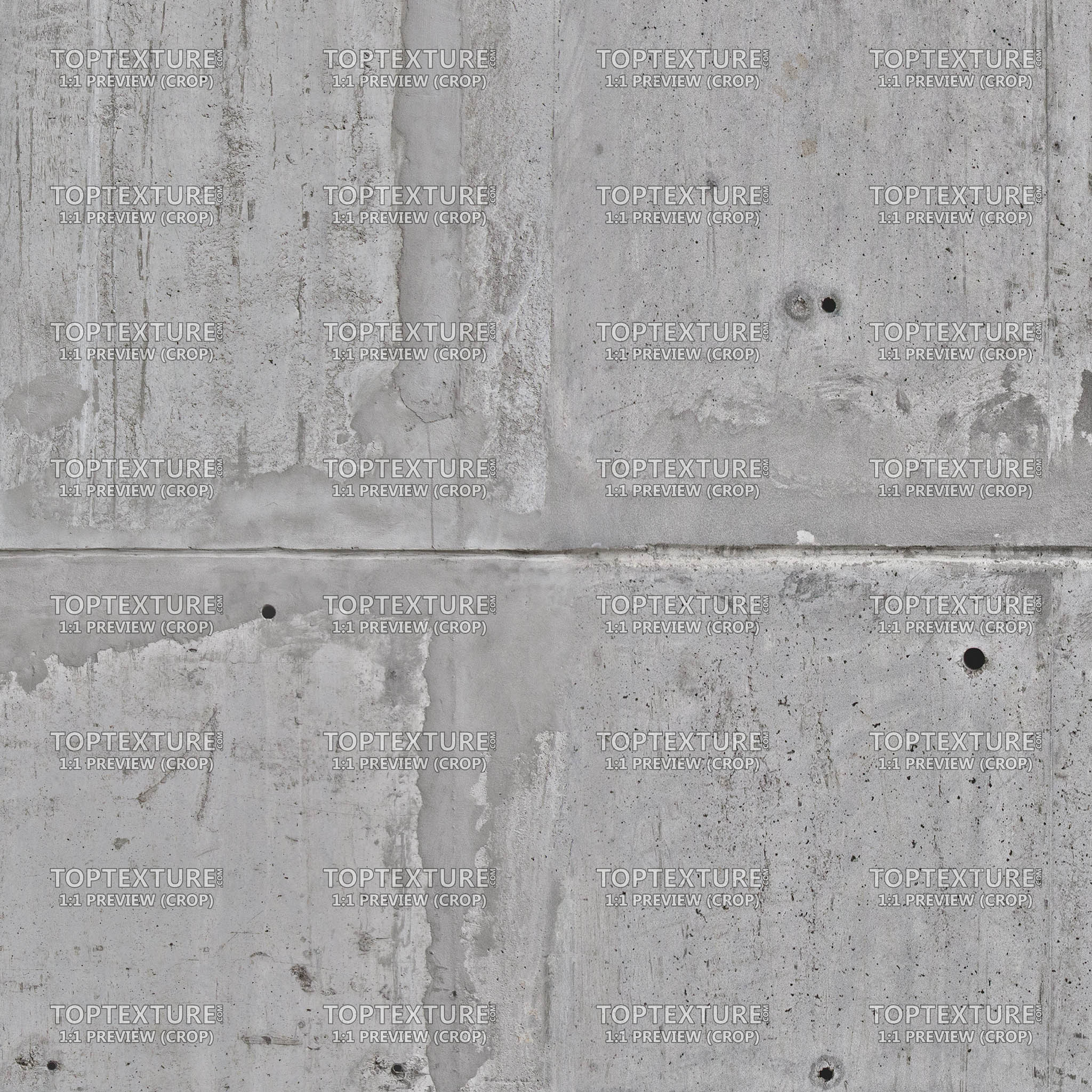 Old Dirty Concrete Wall Slab - Top Texture
