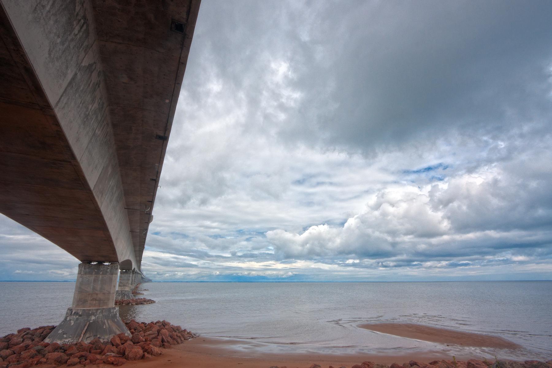 Confederation Bridge - HDR, Angle, Scene, Ocean, PEI, HQ Photo