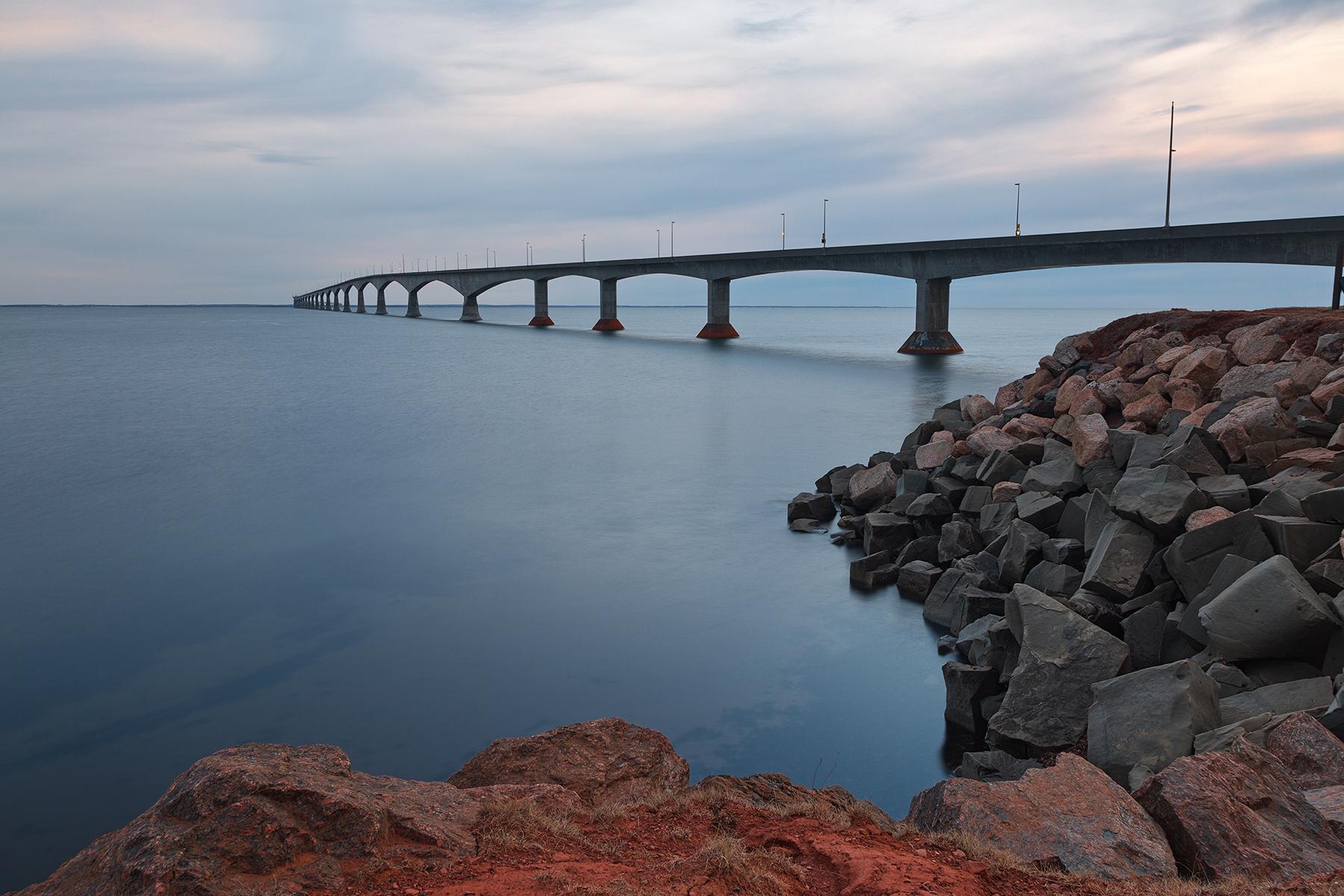 Confederation twilight bridge - hdr photo
