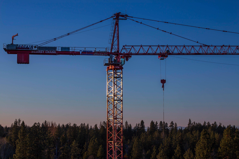 Tower cranes photo