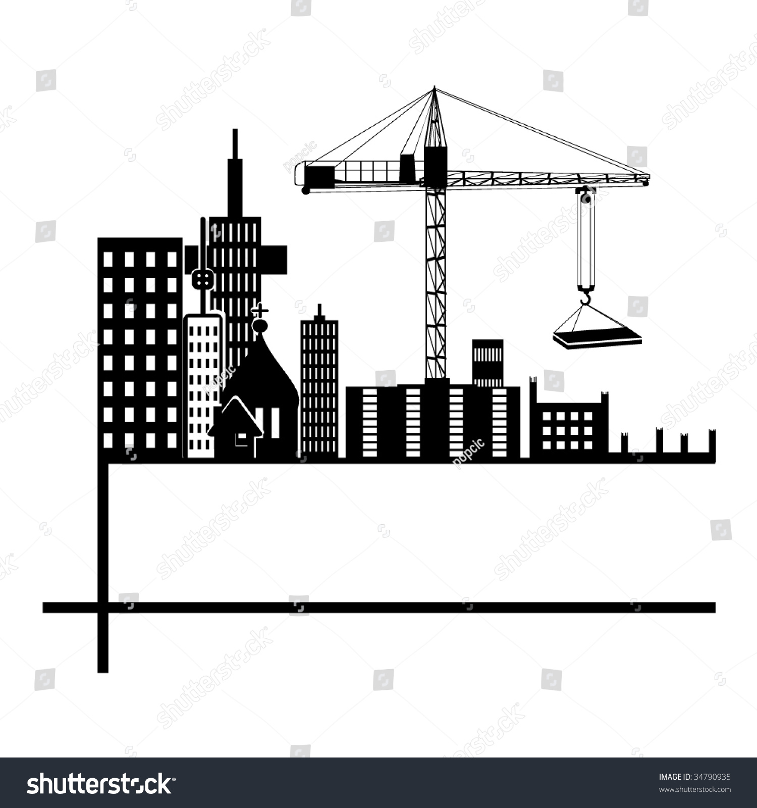 Construction silhouette photo