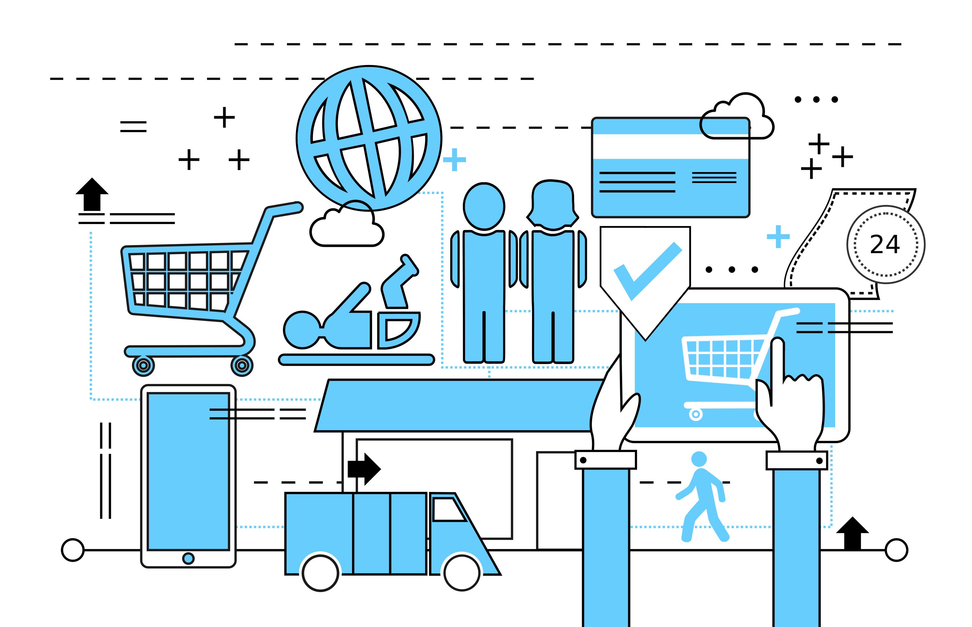 Consumer goods - family shopping photo
