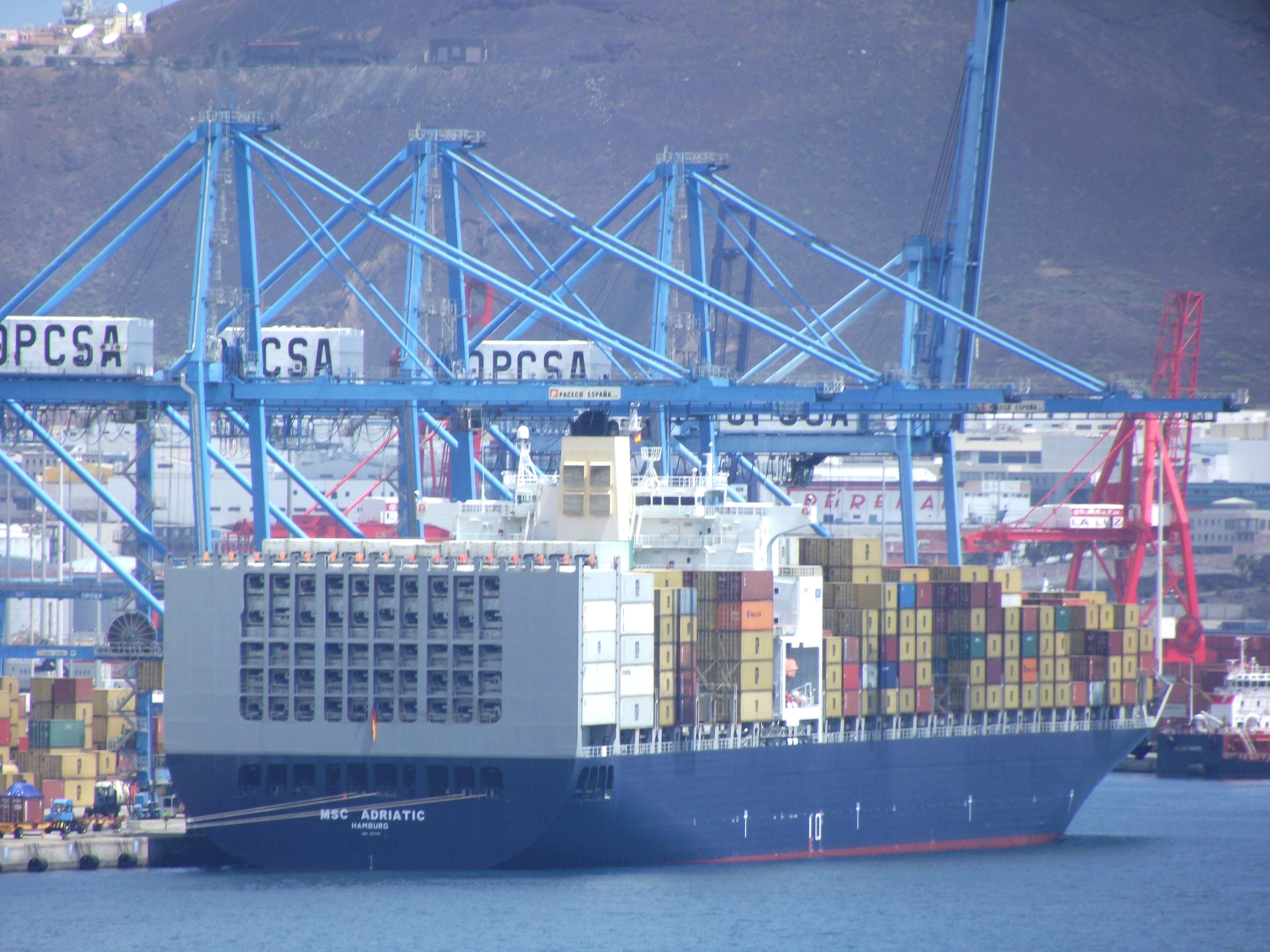 Container vessel, Atlantic, Loading, Vessel, Terminal, HQ Photo