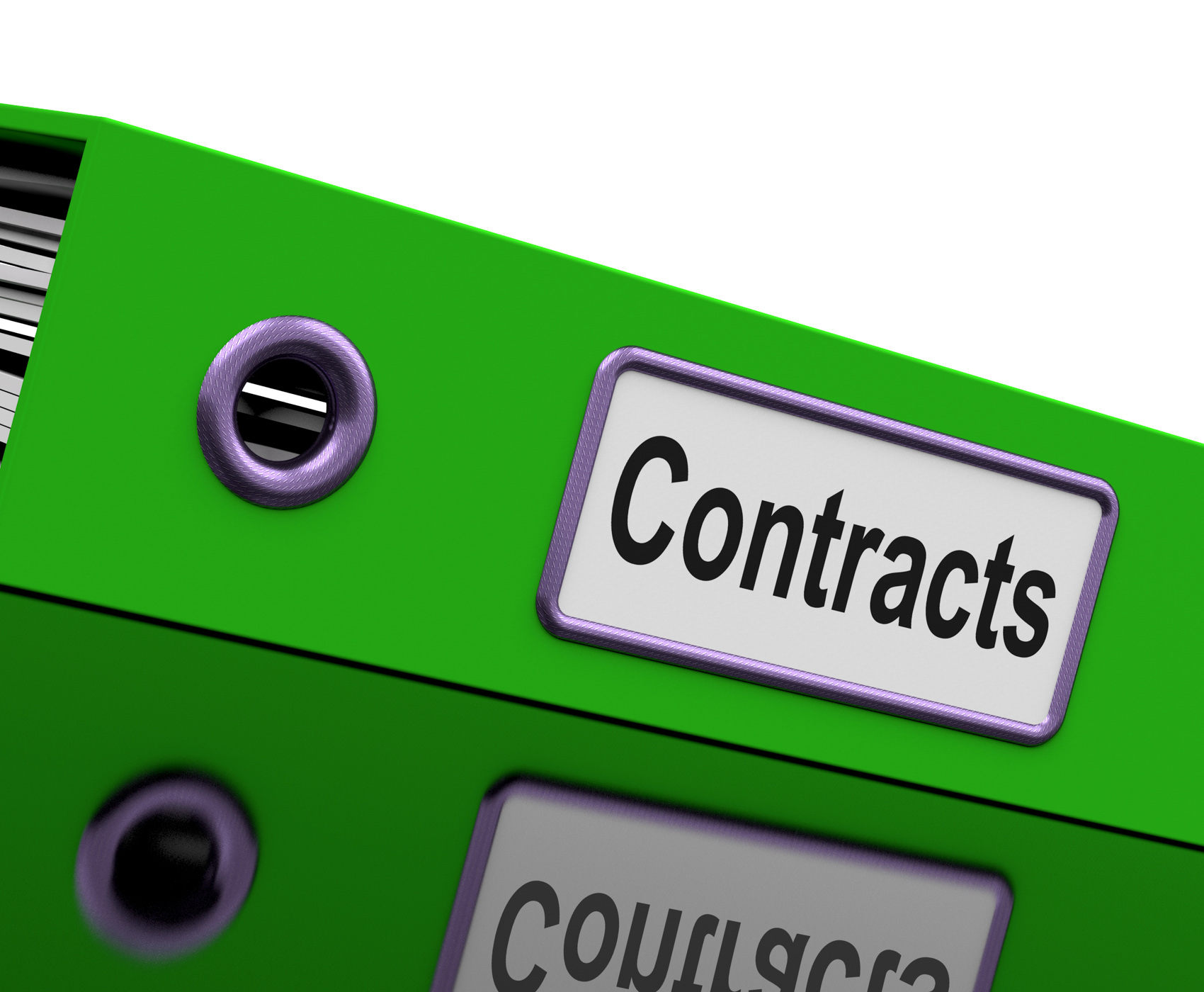 Contract file shows legal business agreements photo