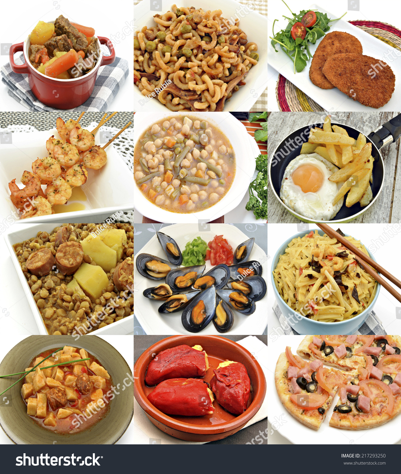 Collages Cooked Food Stock Photo 217293250 - Shutterstock