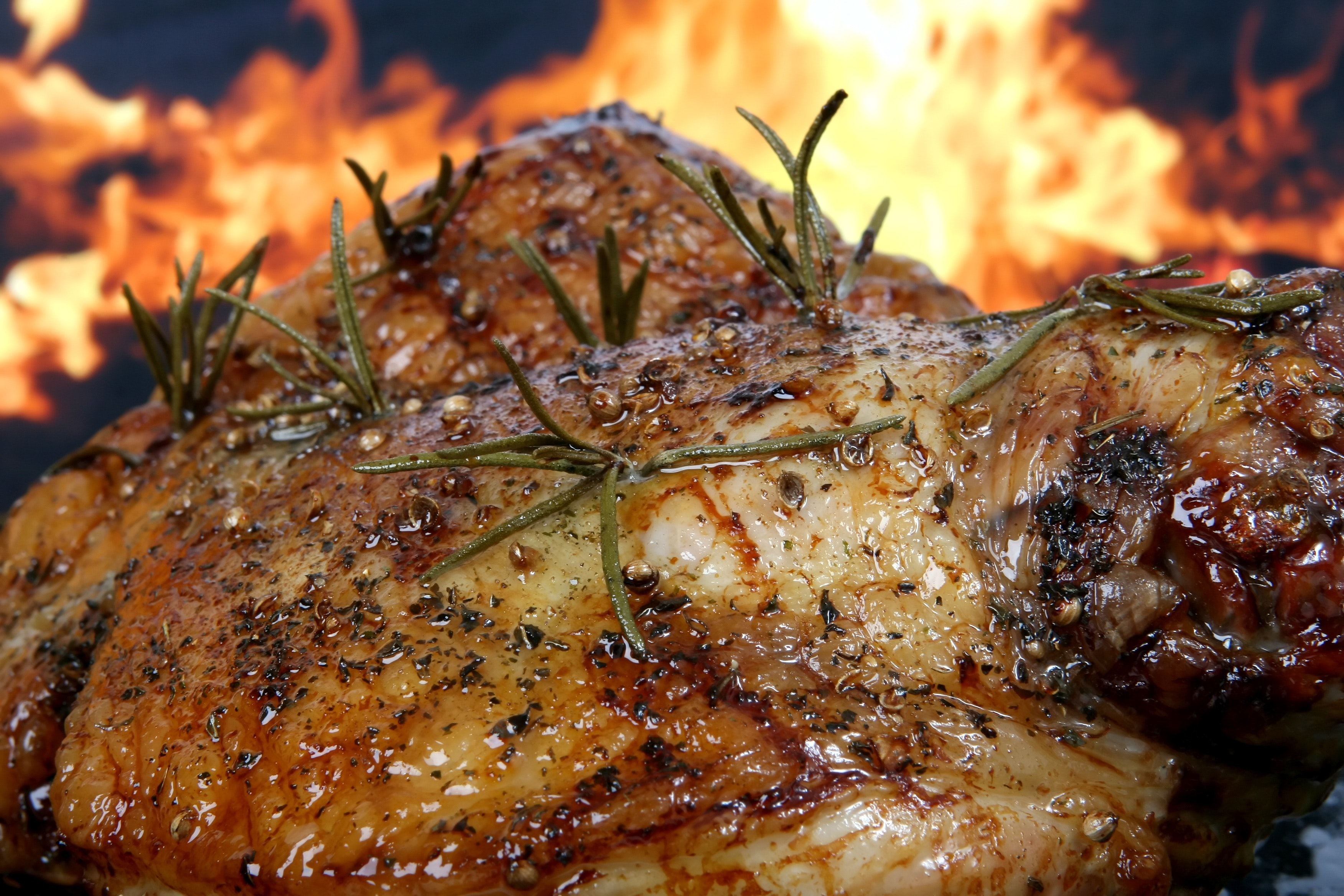 Cooked Meat, Barbecue, Herbs, Rosemary, Roasted, HQ Photo