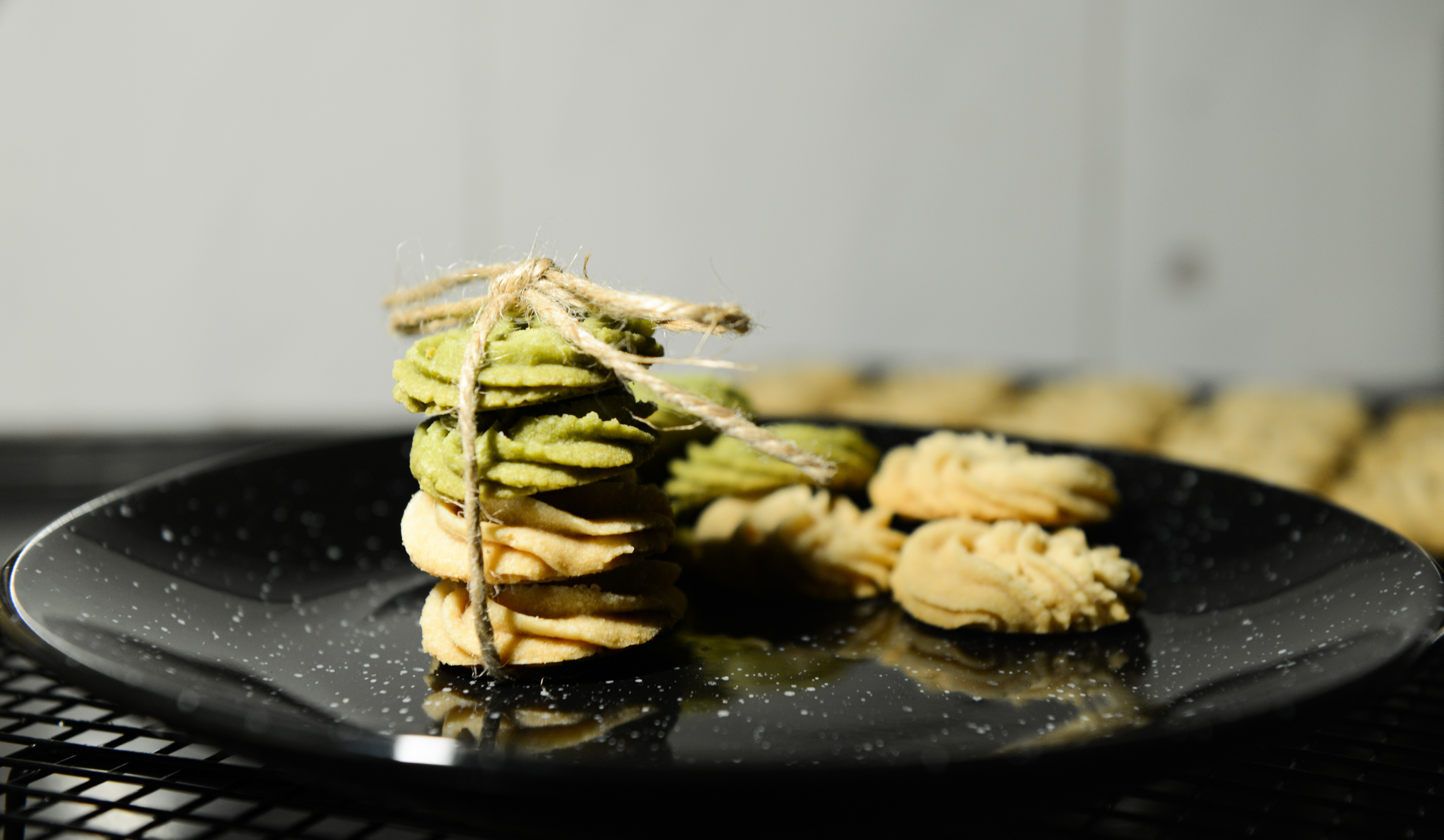 Cookies on Black Marble Plate, Baked, Pastry, Tasty, Table, HQ Photo