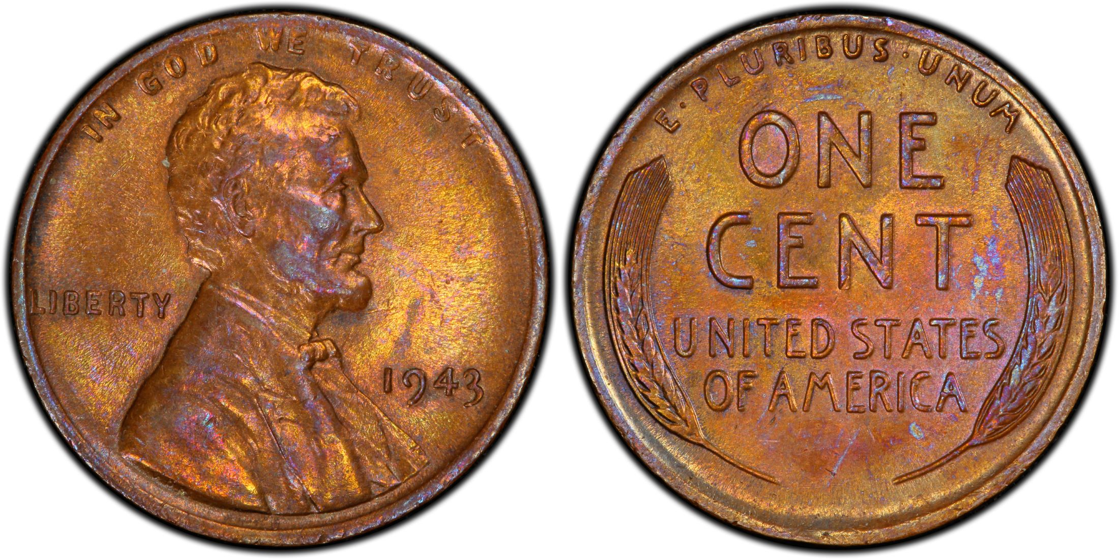 1943 1C Bronze, BN (Regular Strike) - PCGS CoinFacts