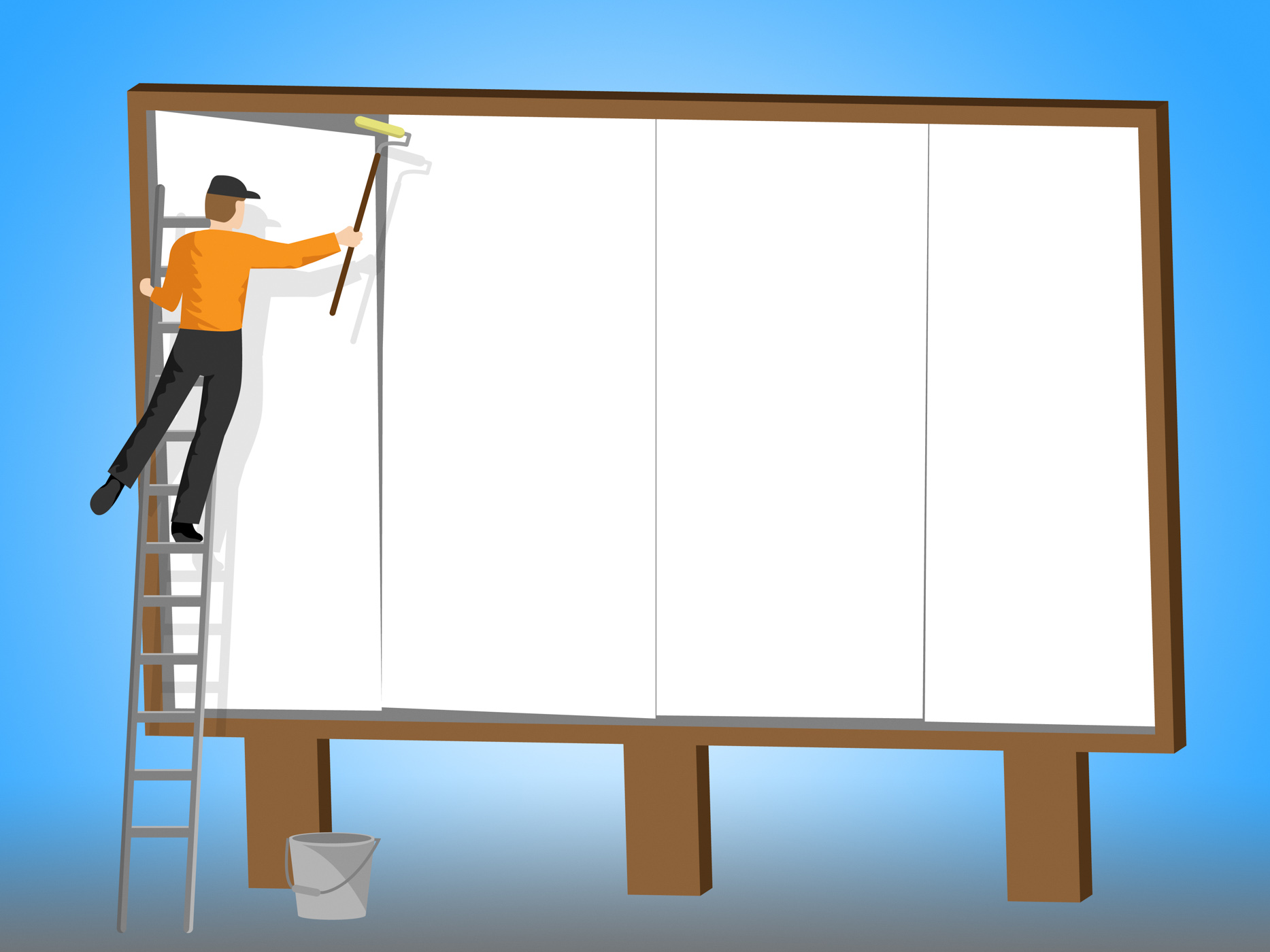 Copyspace billboard represents banner promotional and advertisement photo