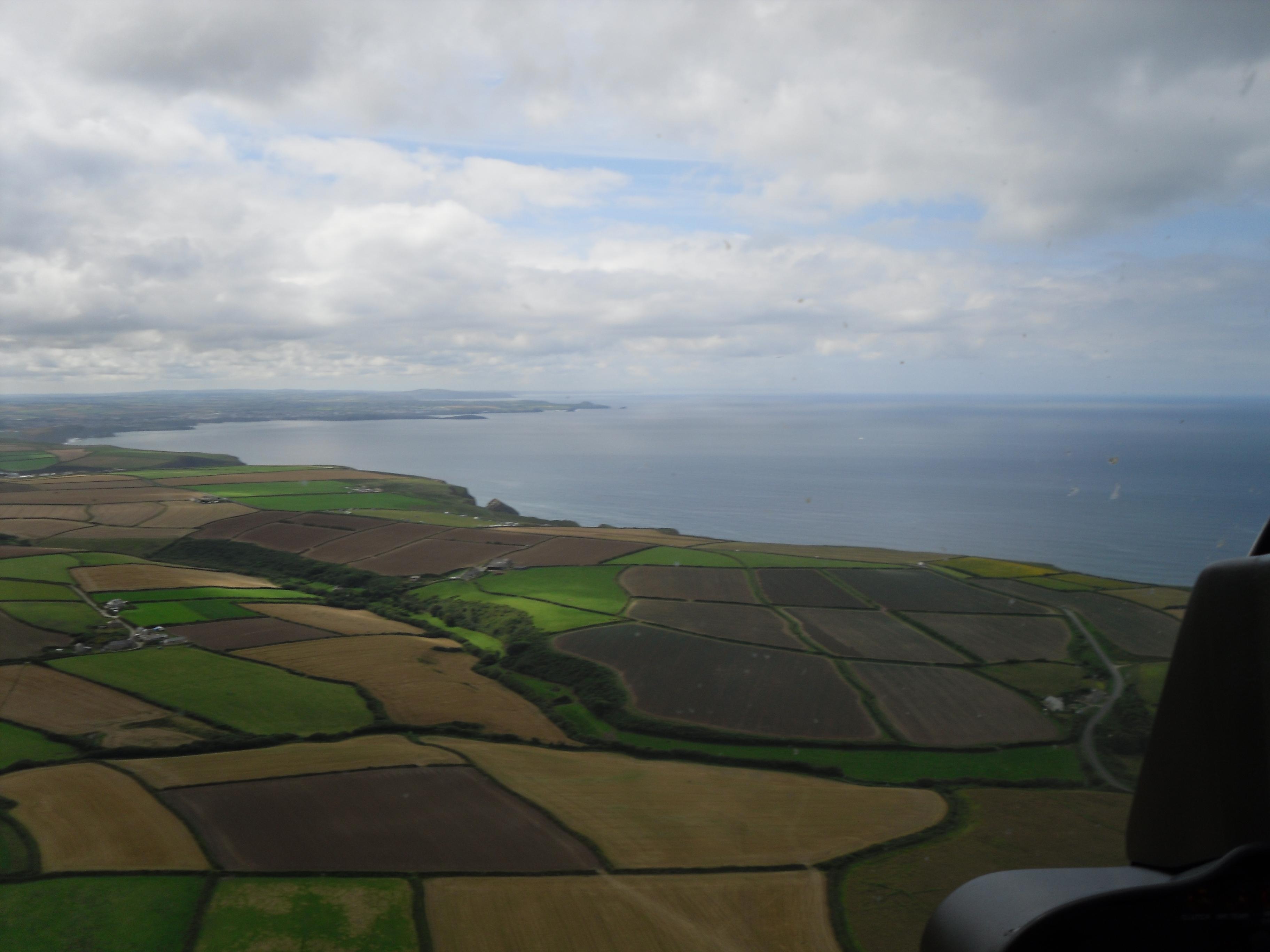 Cornish coast aerial view photo