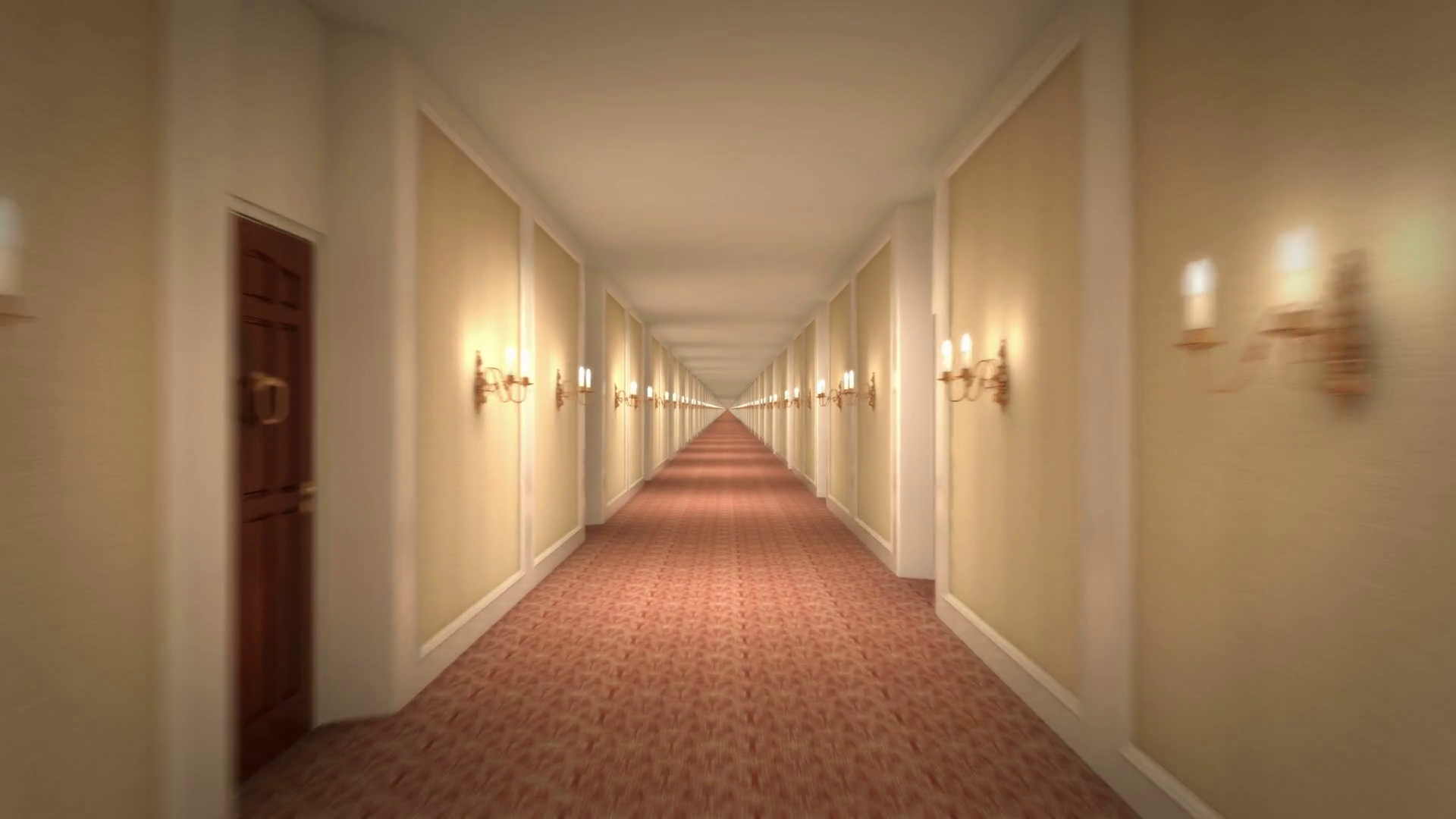 Endless Hotel Corridor 4k Loop Motion Background - Videoblocks