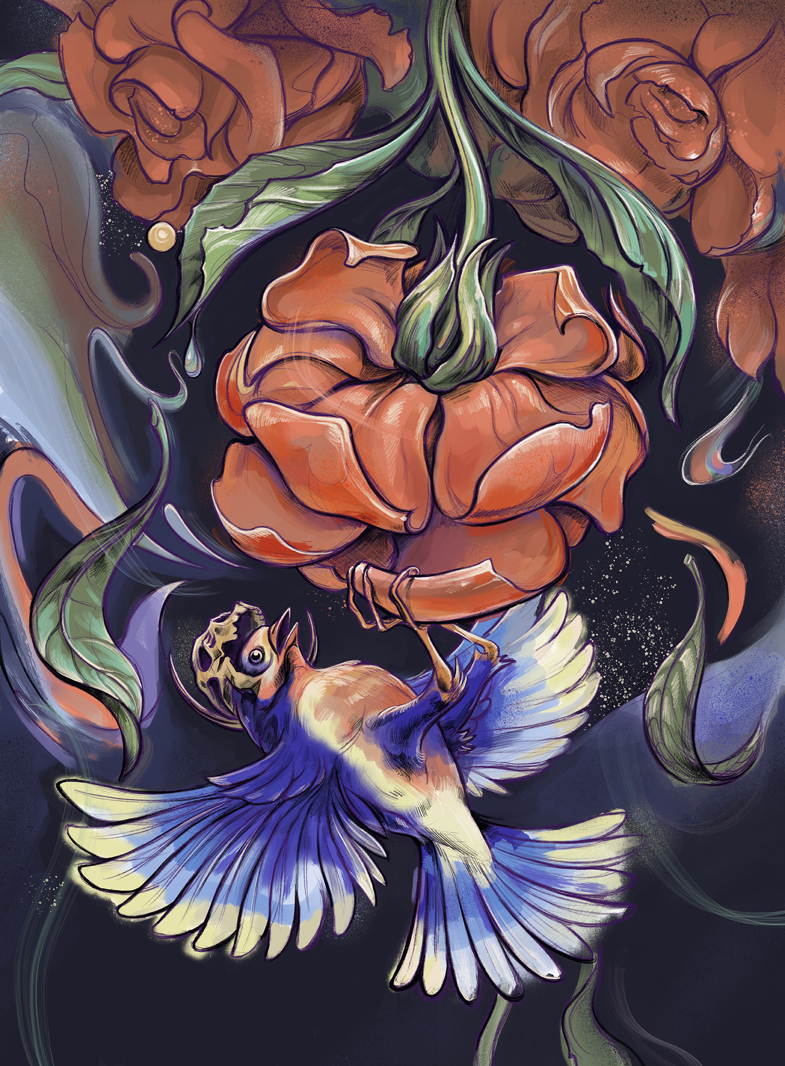 Cosmic flower « Alexei Patrascu artwork