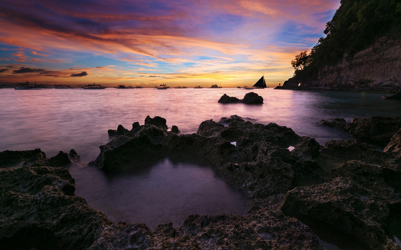 Nature & Landscape Coastal Sunset Seascape wallpapers (Desktop ...