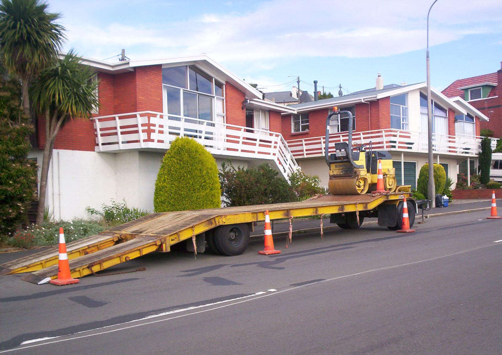 Council Works Trailer, Bspo06, Construction, Dunedin, Houses, HQ Photo