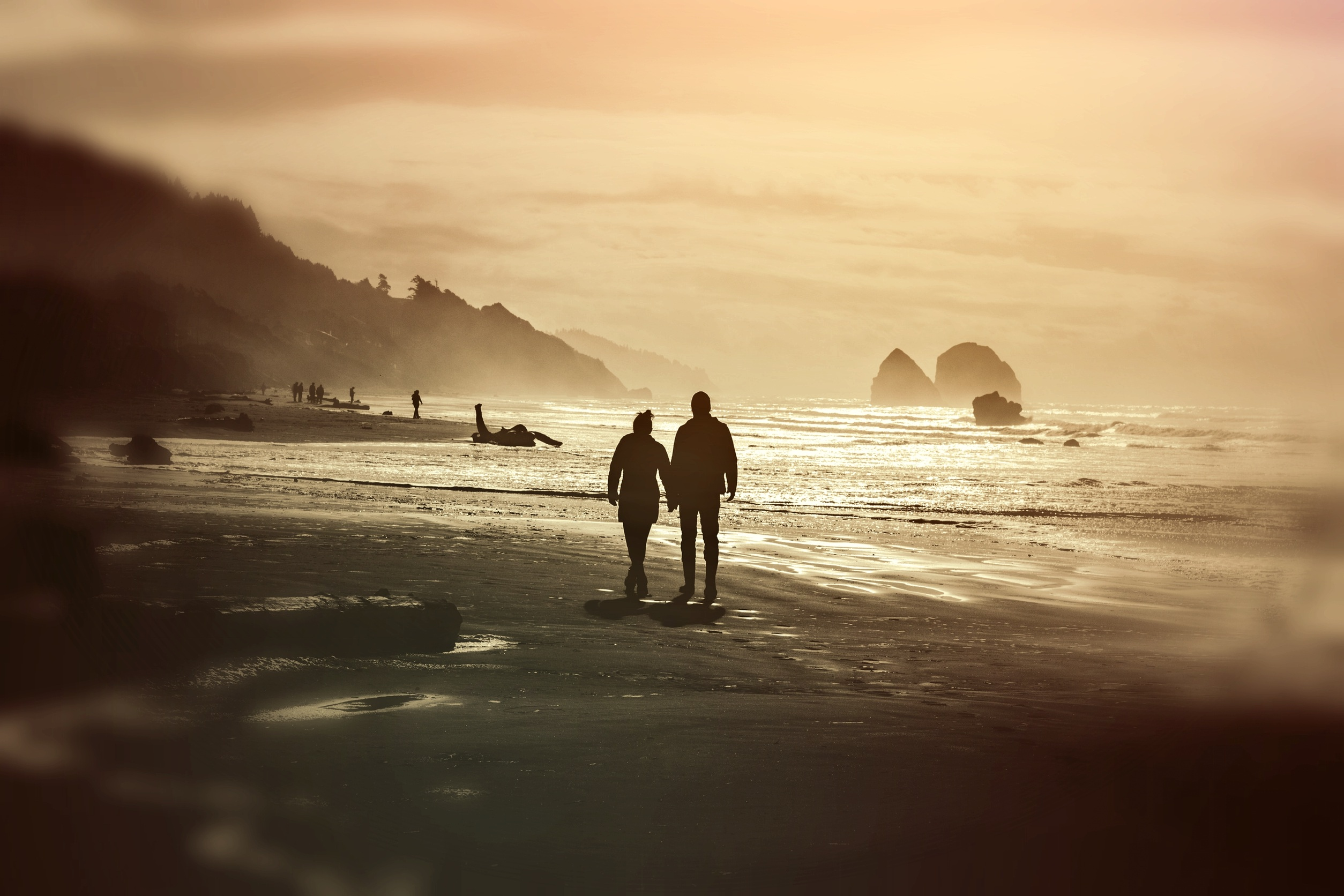 Couple on the Beach, Beach, Couple, Flow, Love, HQ Photo