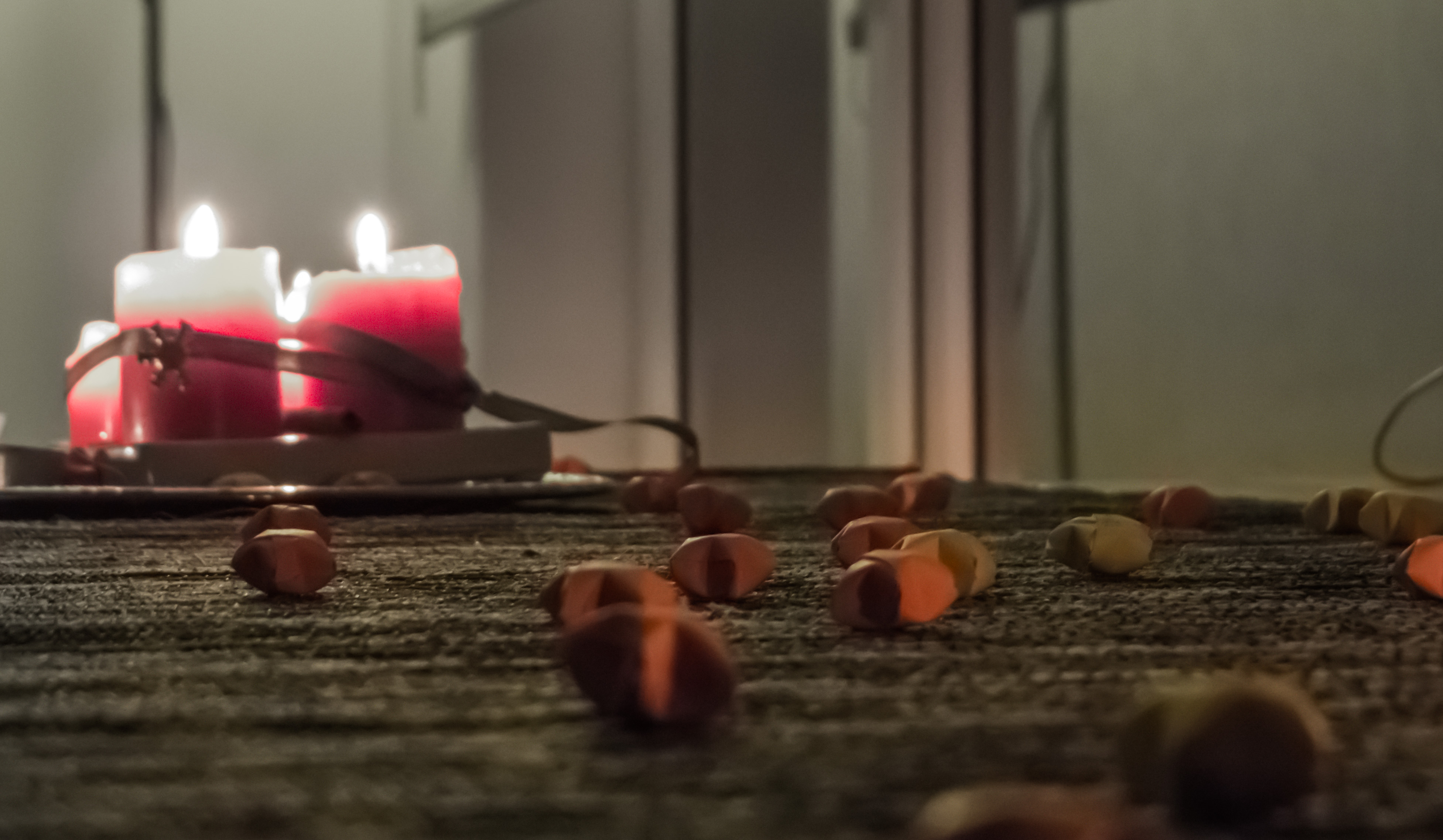 Cozy evening candles photo
