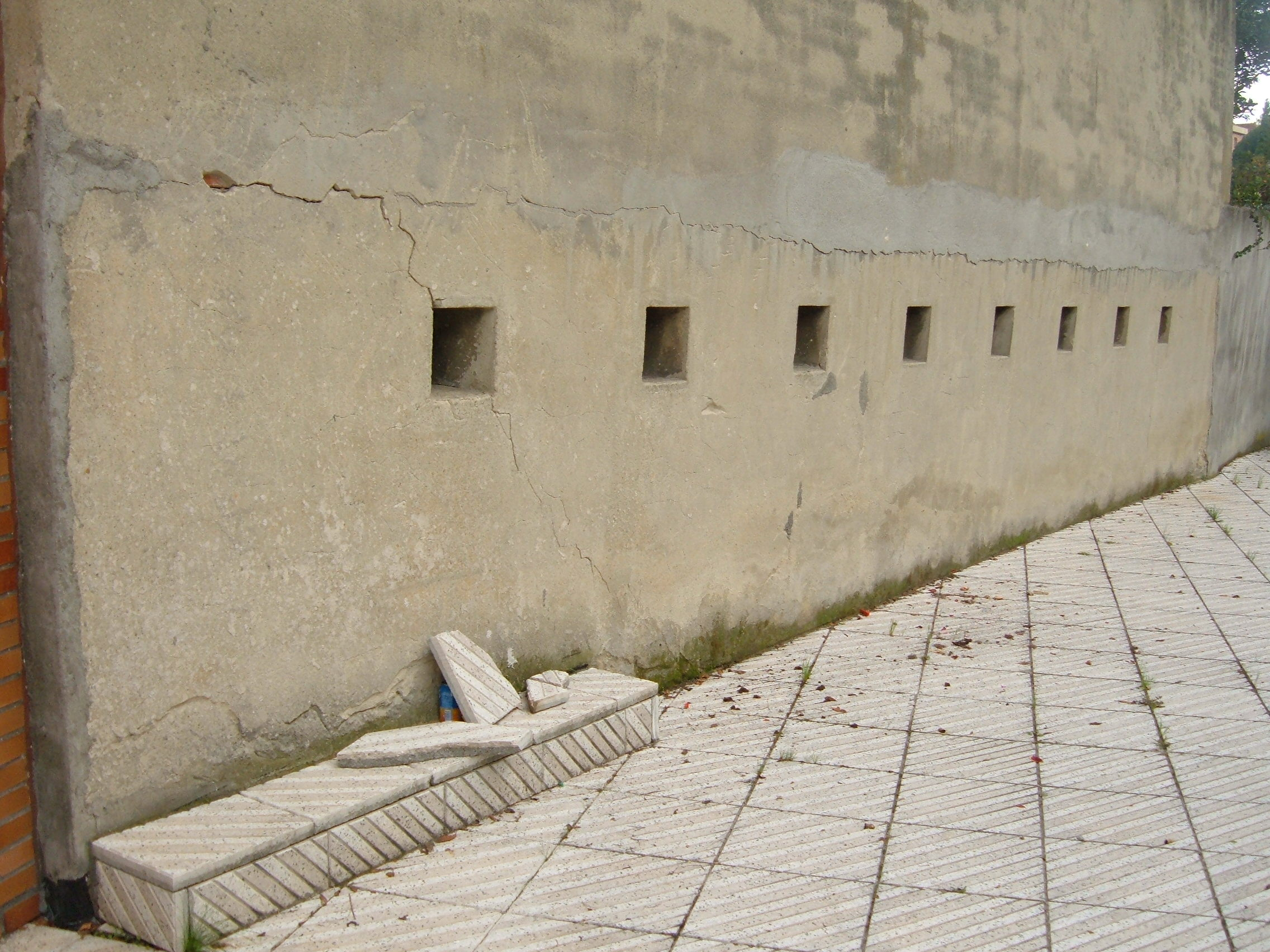 Cracked Stone Wall, Bare, Building, Concrete, Cracked, HQ Photo