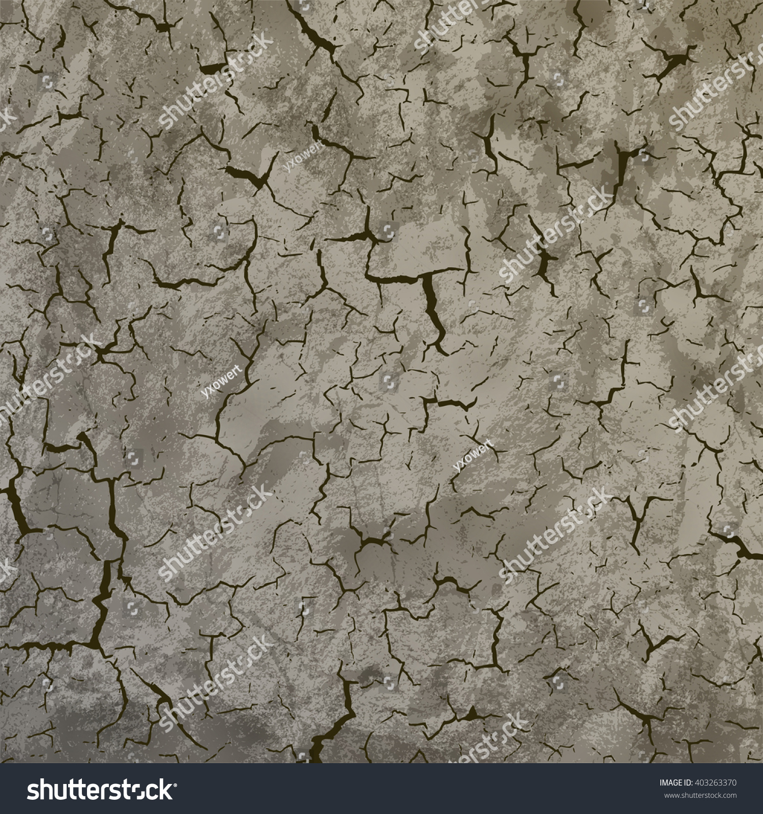 Cracked Surface Background Stock Vector HD (Royalty Free) 403263370 ...