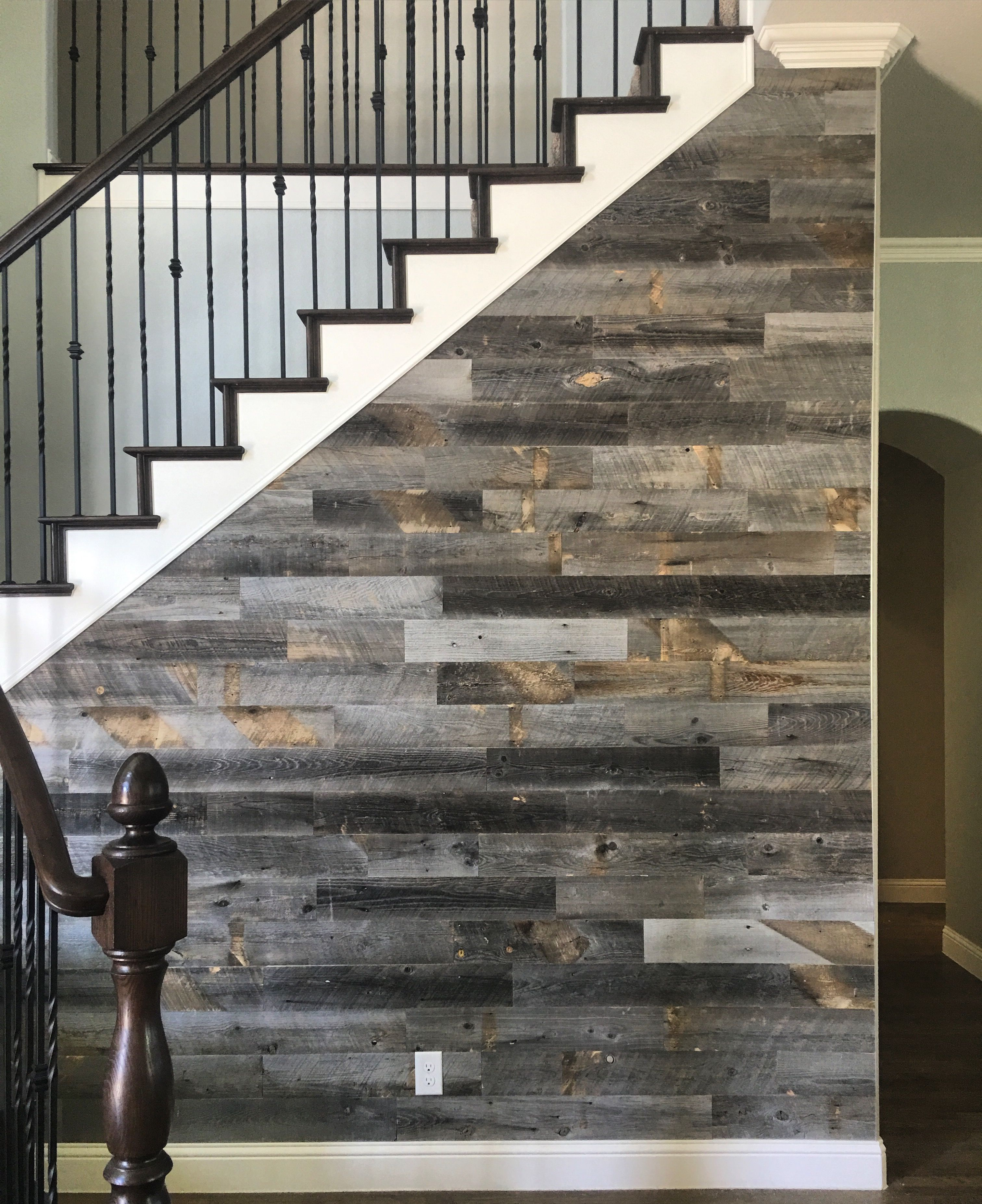 Reclaimed Weathered Wood | Wood staircase, Wall accents and Staircases