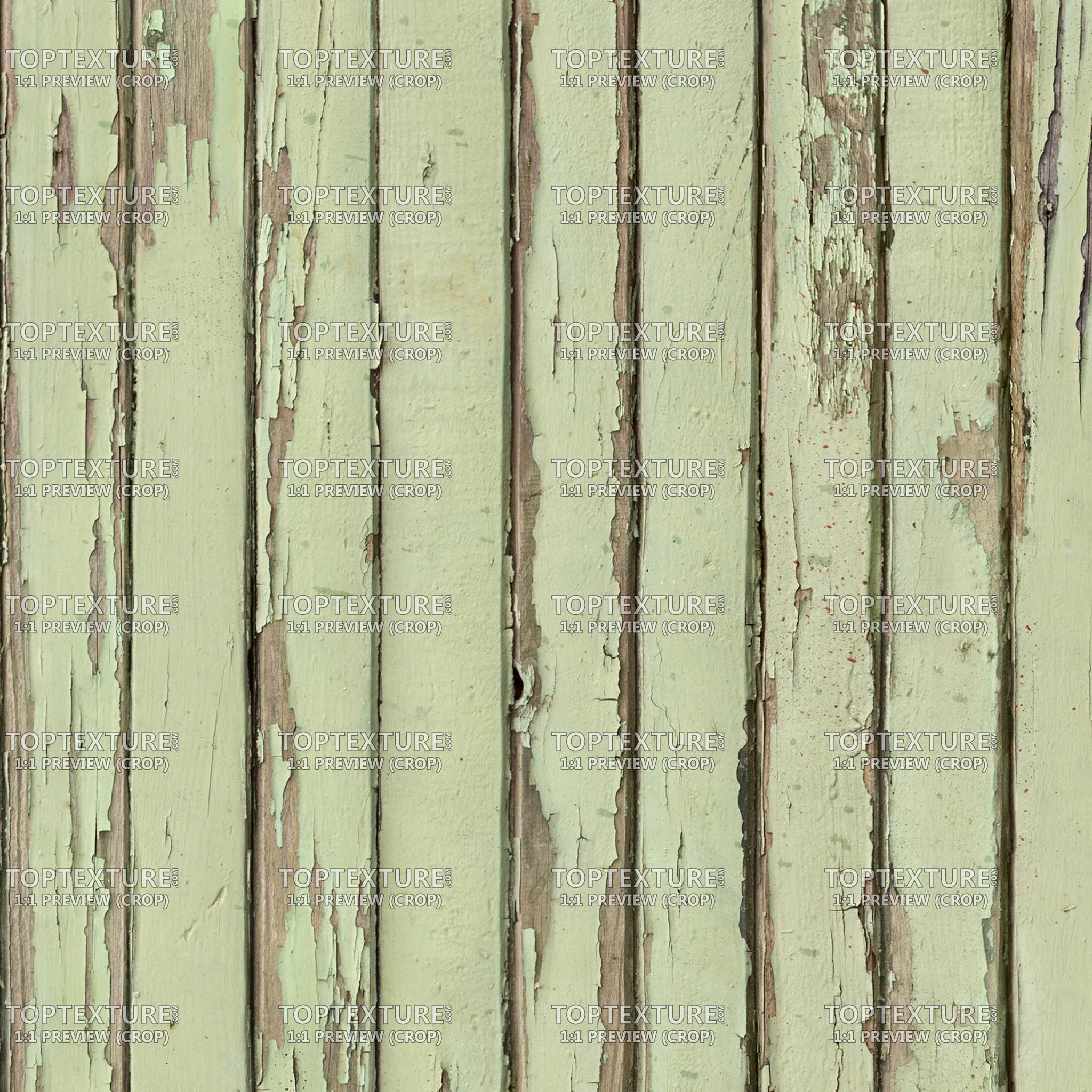Light Green Cracked Wood Planks - Top Texture
