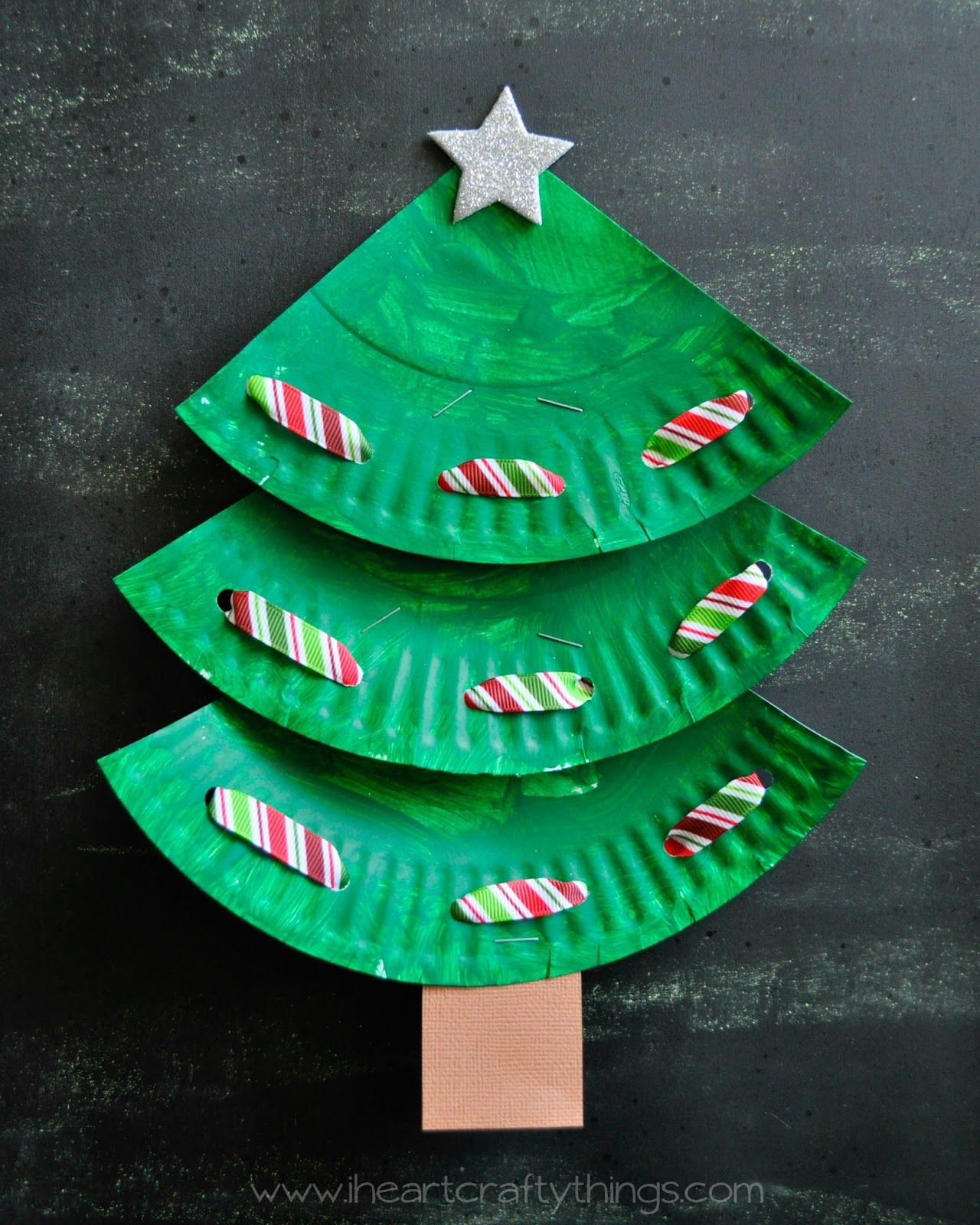 Craft christmas tree photo