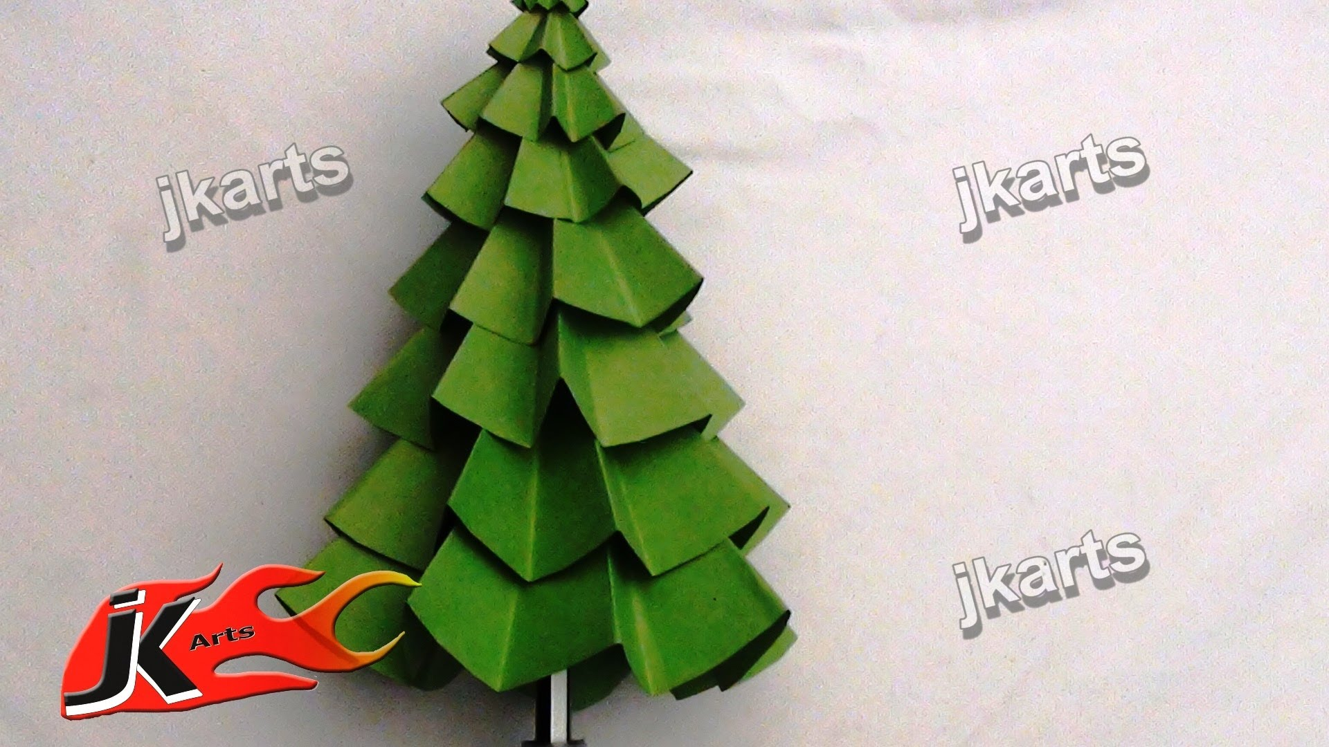 Make Christmas Tree Paper Craft Kids Arts Youtube - DMA Homes | #44305