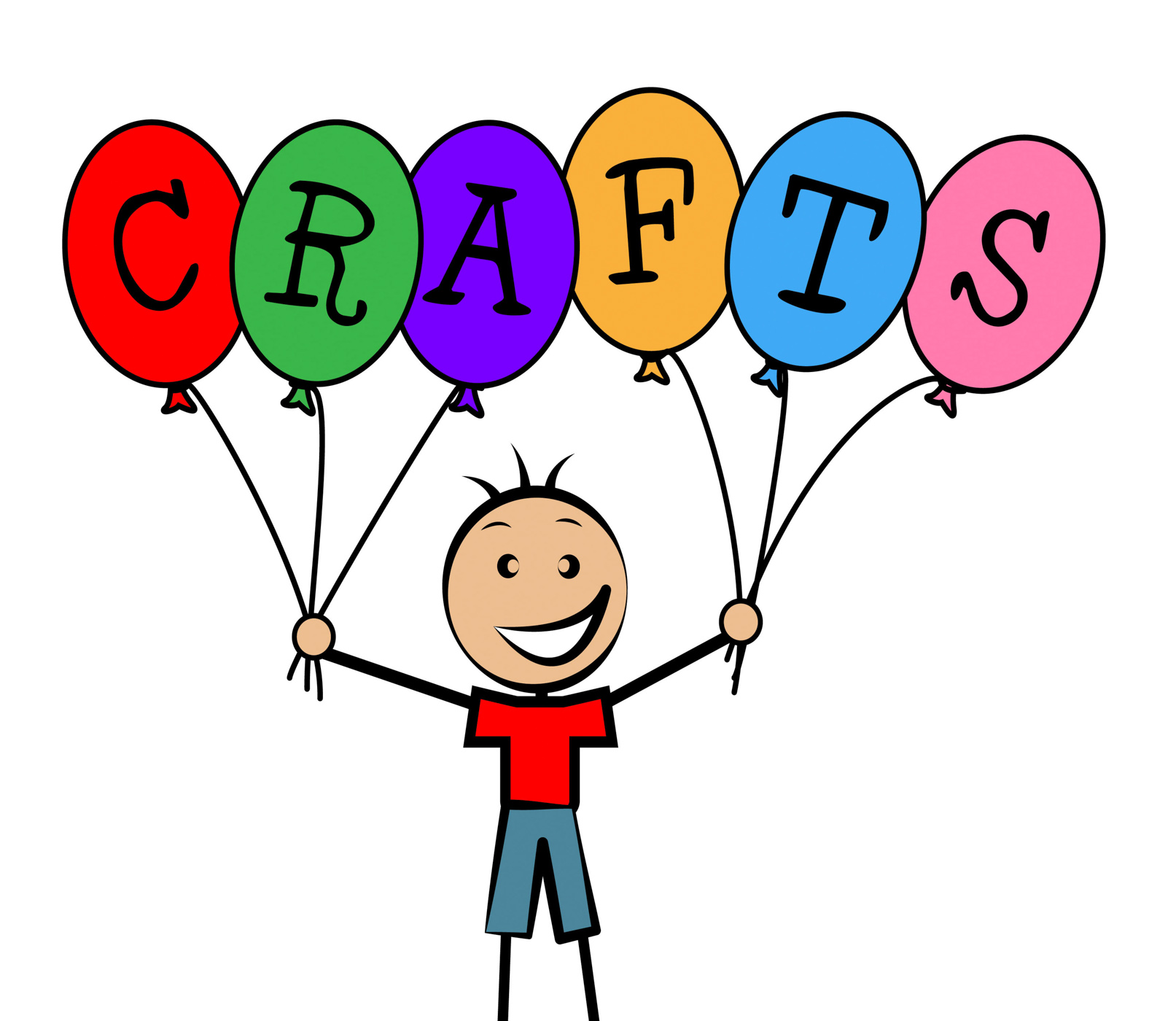 Crafts balloons indicates bunch male and designing photo