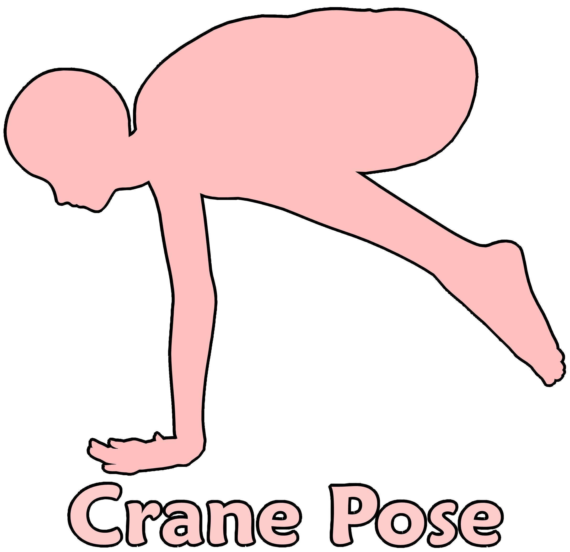 Crane Pose, Body, Cartoon, Clipart, Exercise, HQ Photo
