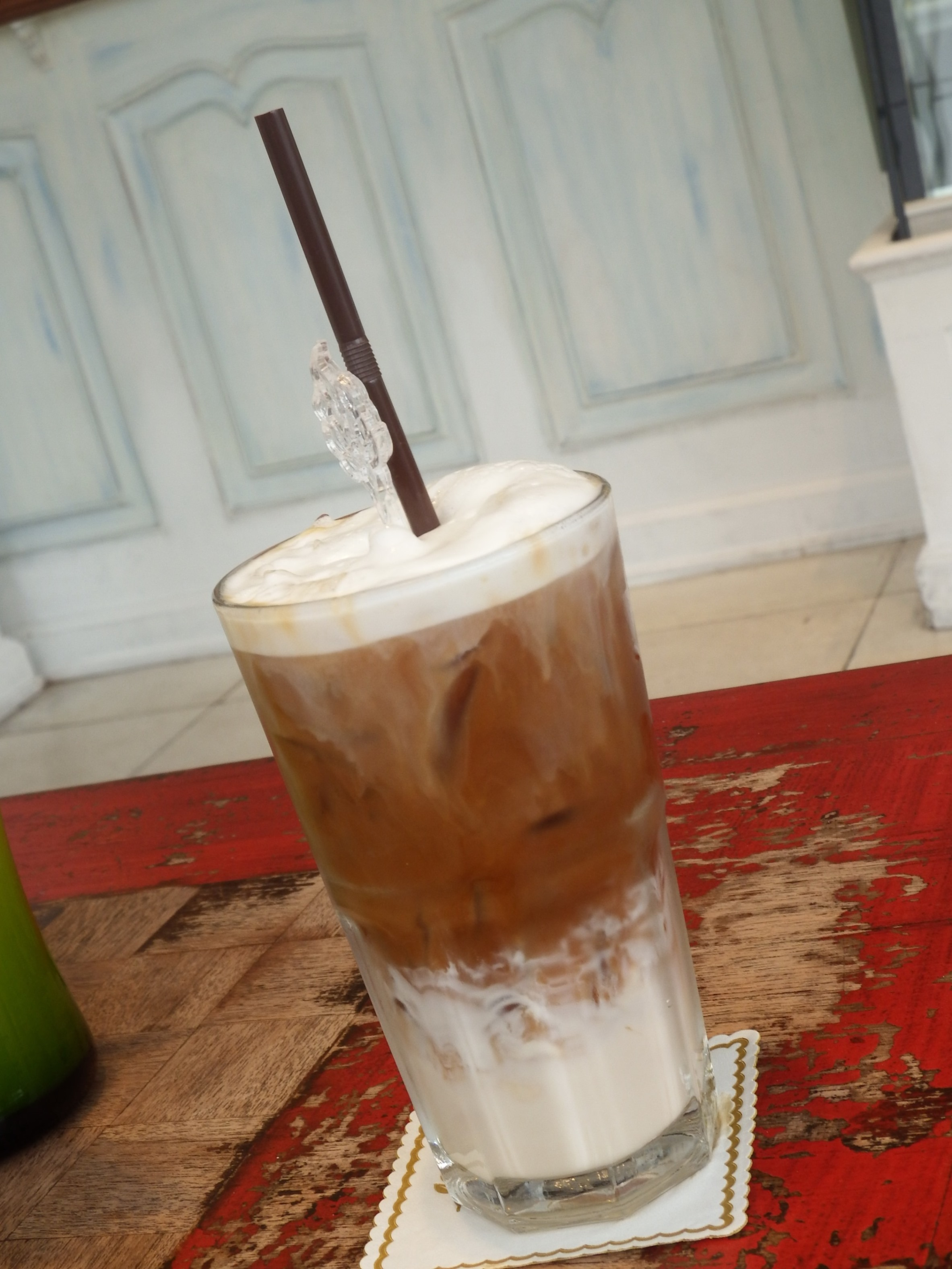 Creamy Iced Latte, Glass, Nobody, Mix, Layers, HQ Photo
