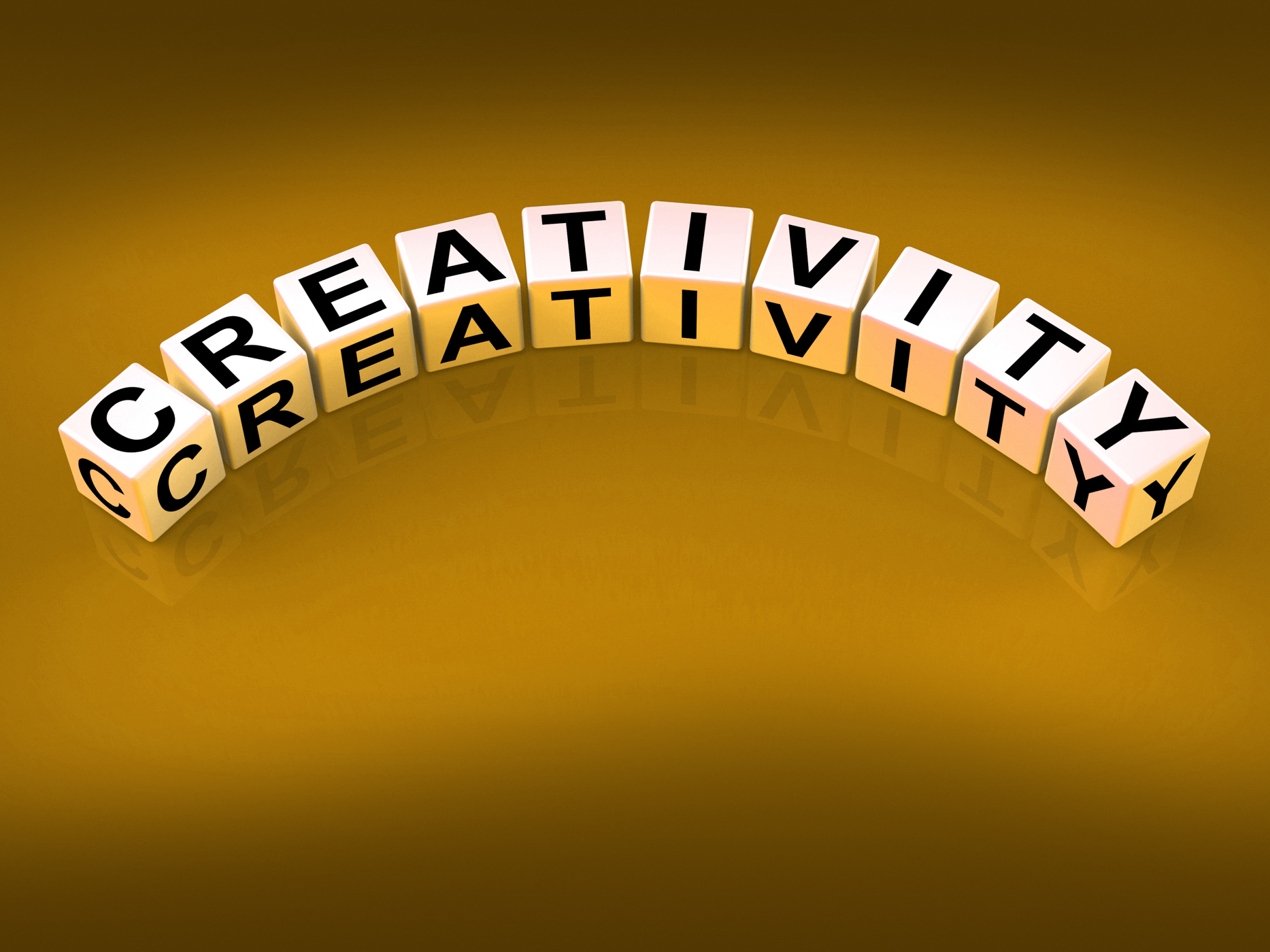 Creativity dice mean inventiveness inspiration and ideas photo