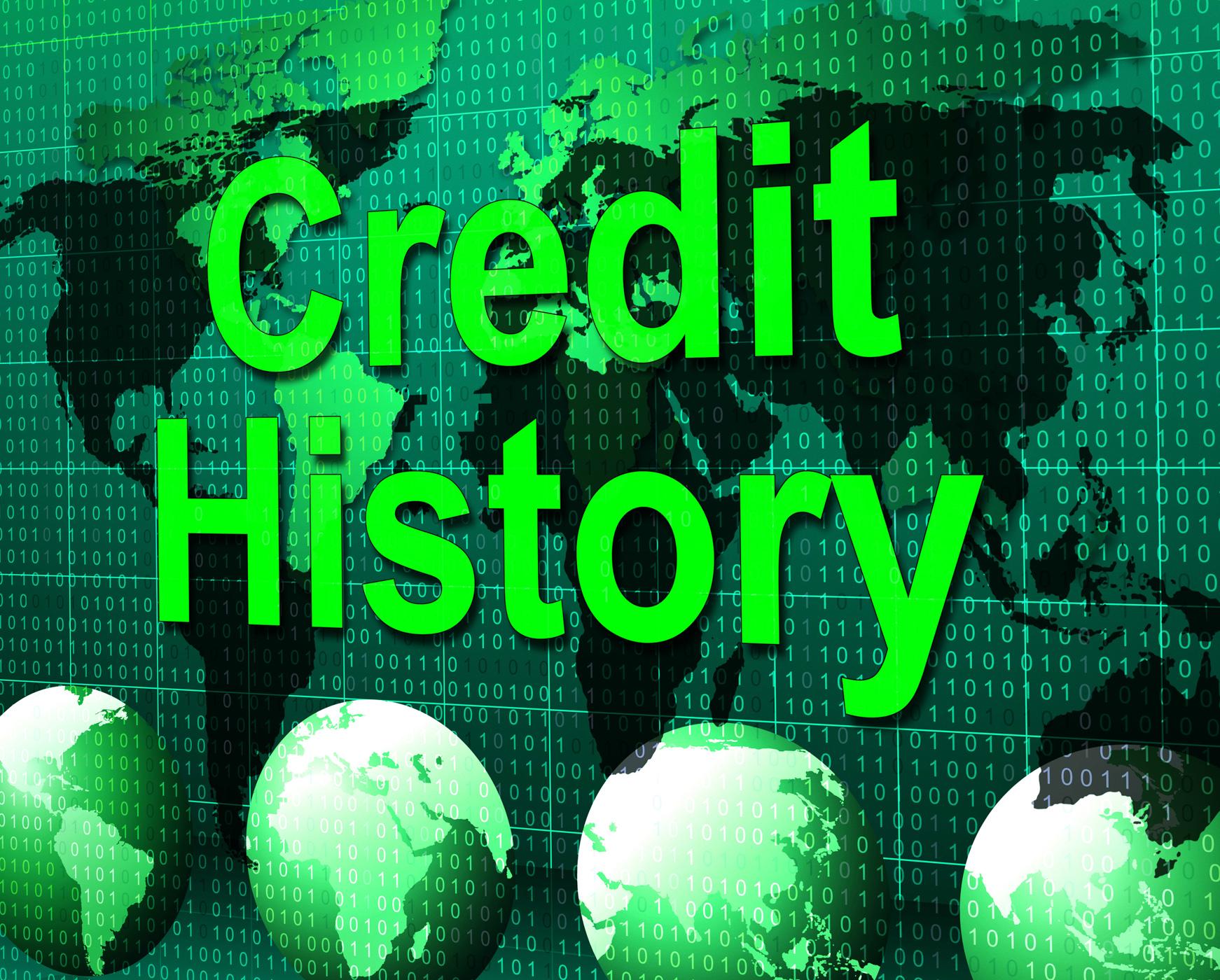 Credit history represents debit card and bankcard photo
