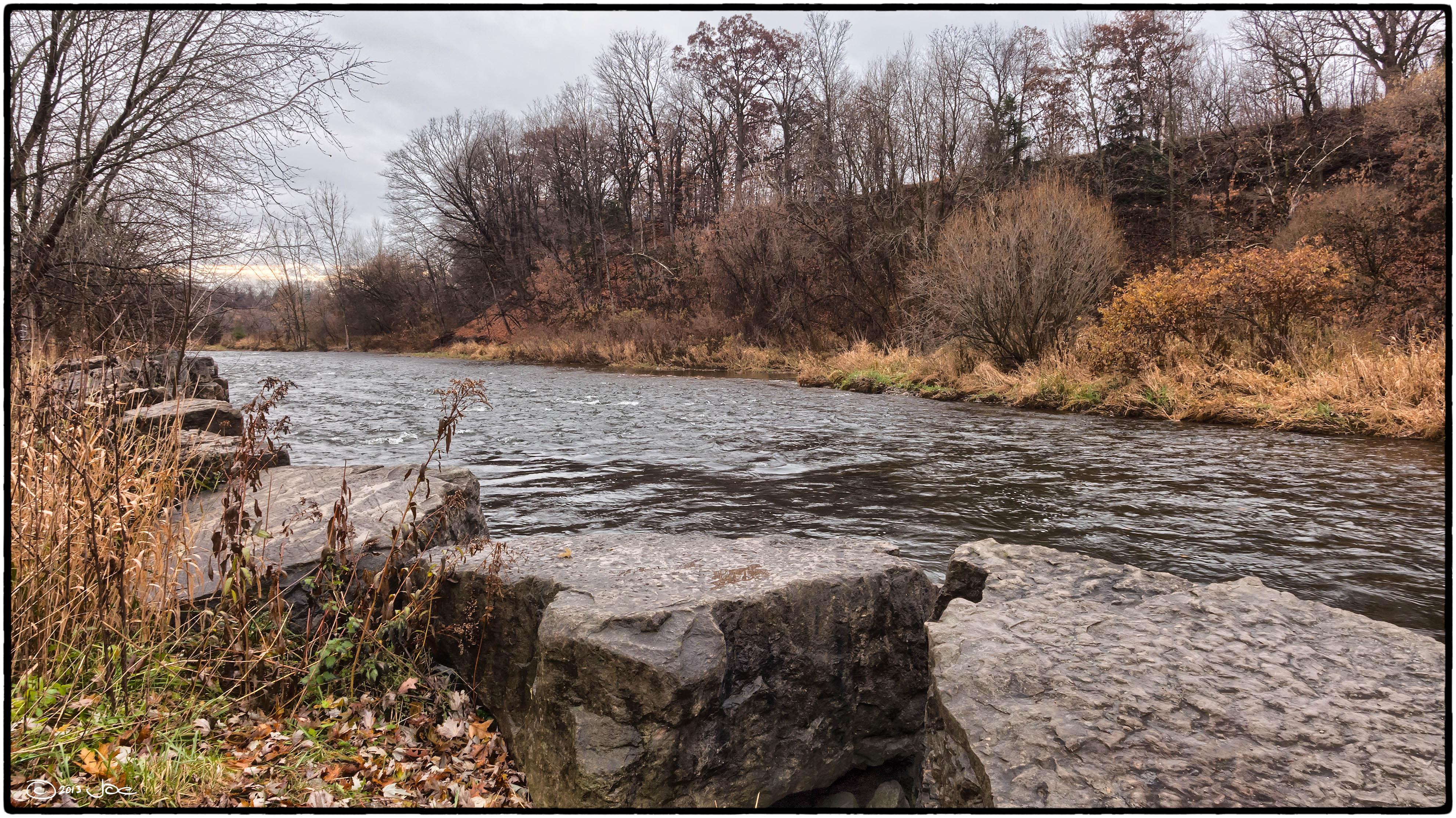Credit river, mississauga, ontario photo