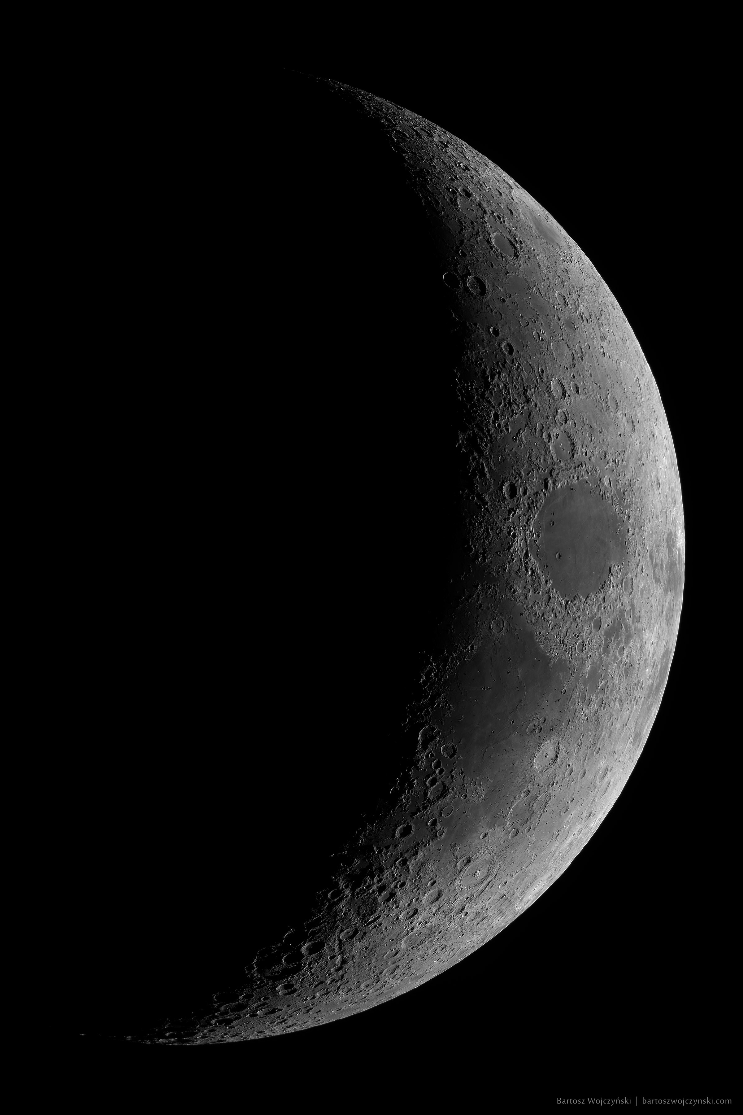 Waxing Crescent Moon by Bartosz Wojczyński