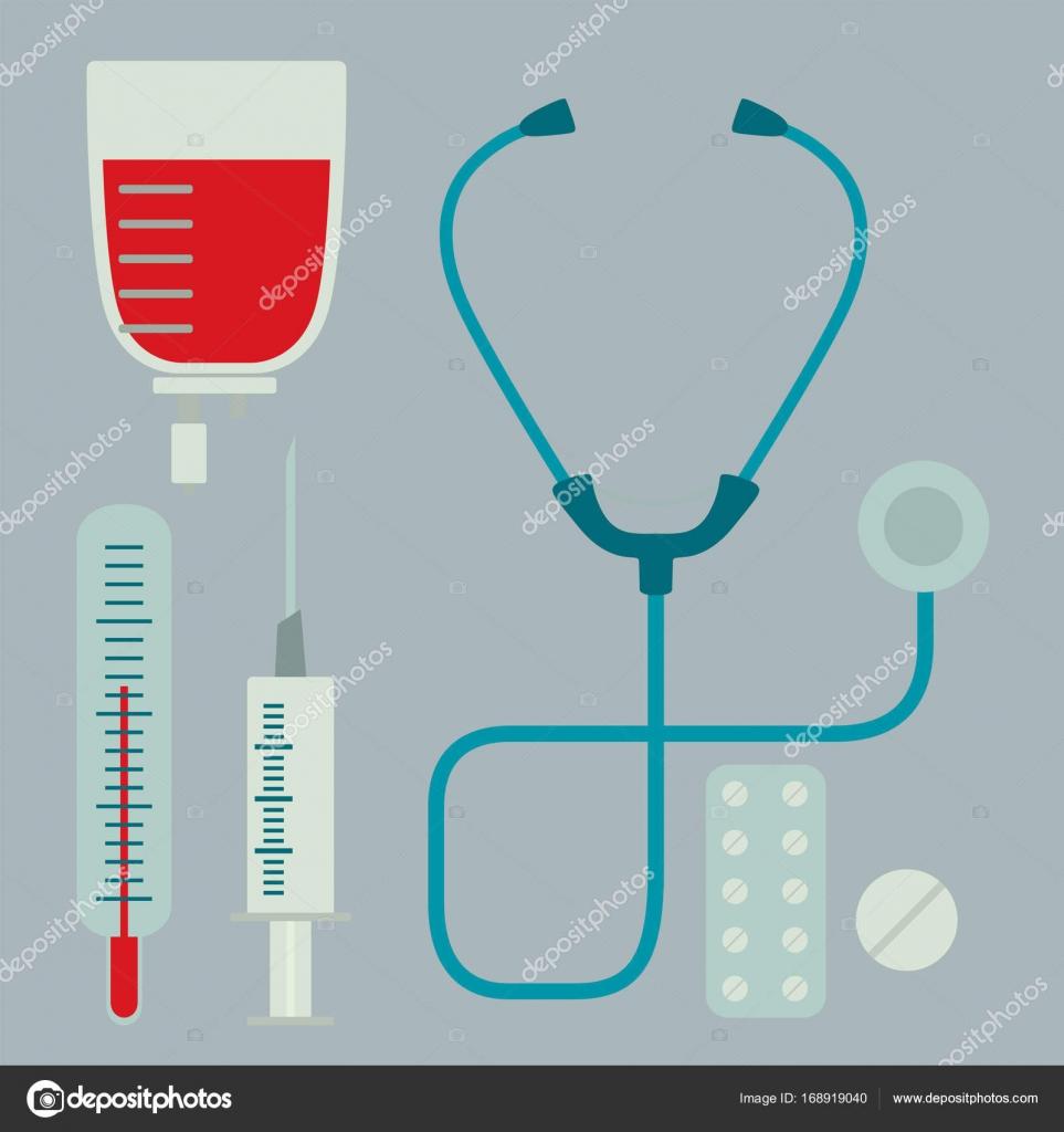 Medical symbols emergency sign cross first sterile hospital bandages ...