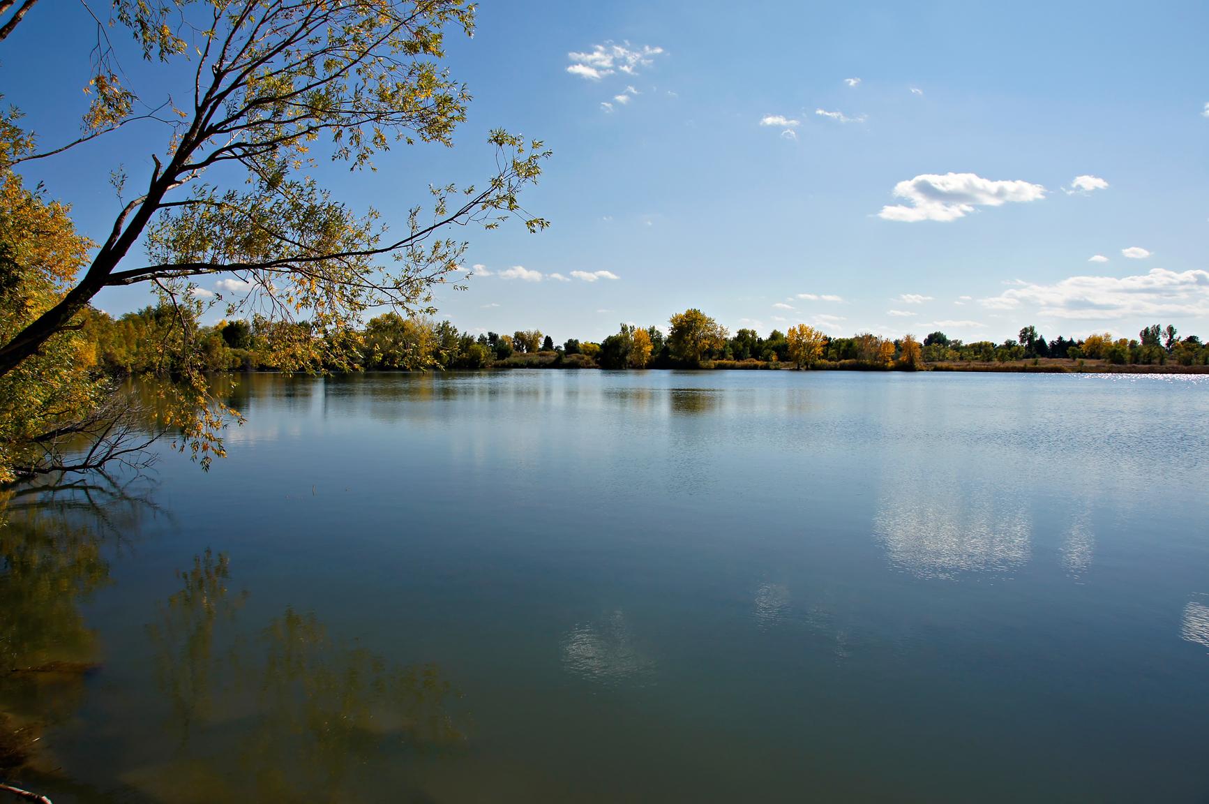 Crown hill lake autumn photo