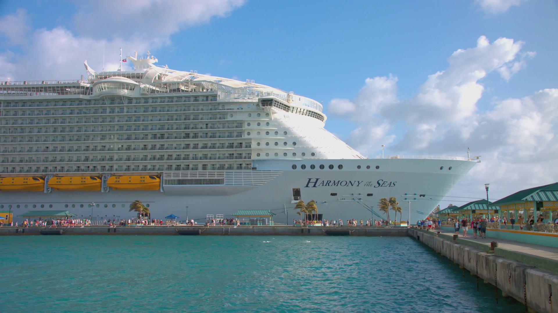 Nassau Bahamas Harmony of the Seas Cruise Ship Docked at the Port of ...