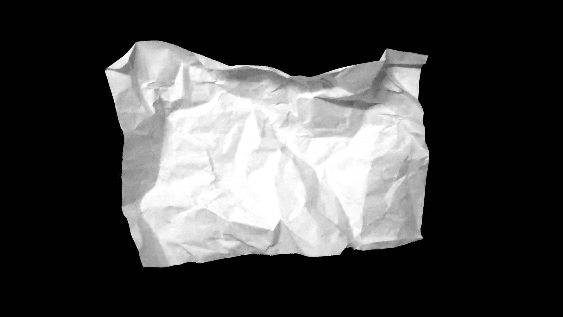 Crumpled Paper HD - YouTube