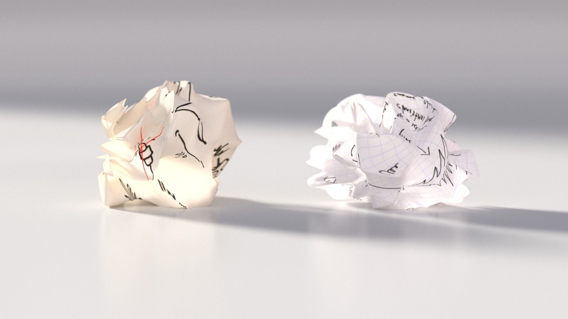 Crumpled paper ball 3D model | CGTrader