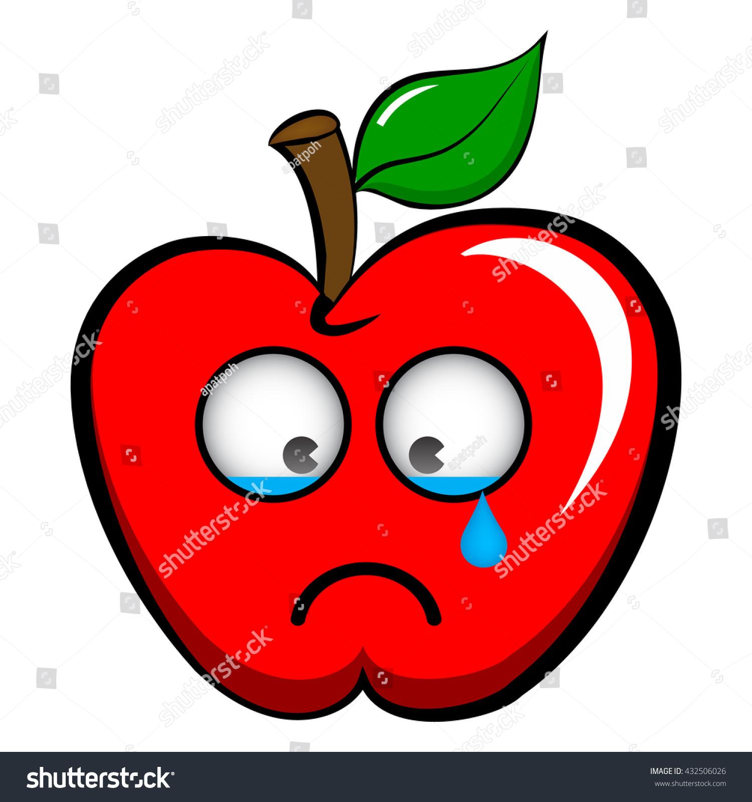 Crying apple photo