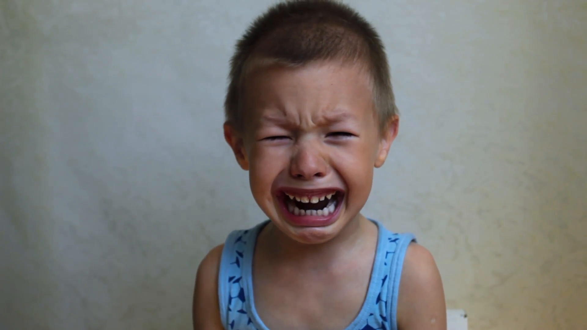 Child Boy Crying Bitterly 2 Stock Video Footage - Videoblocks