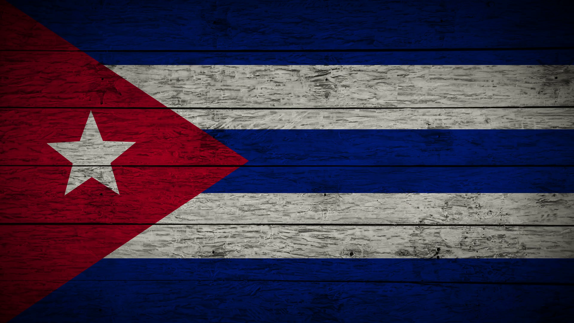 Painting Flag of Cuba on old wood boards With four different ways ...