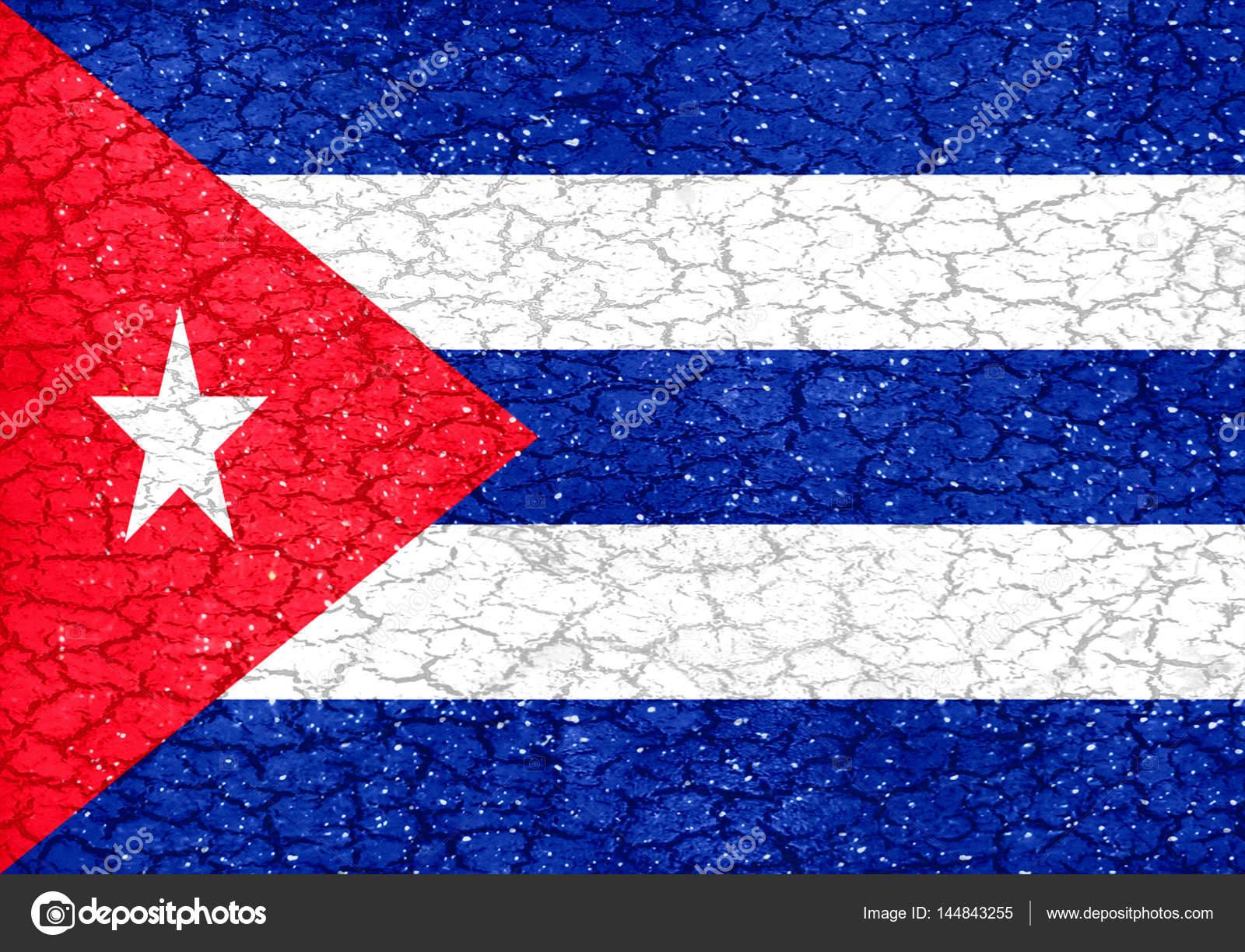 Cuba Grunge Style National Flag — Stock Photo © DanFLCreativo #144843255