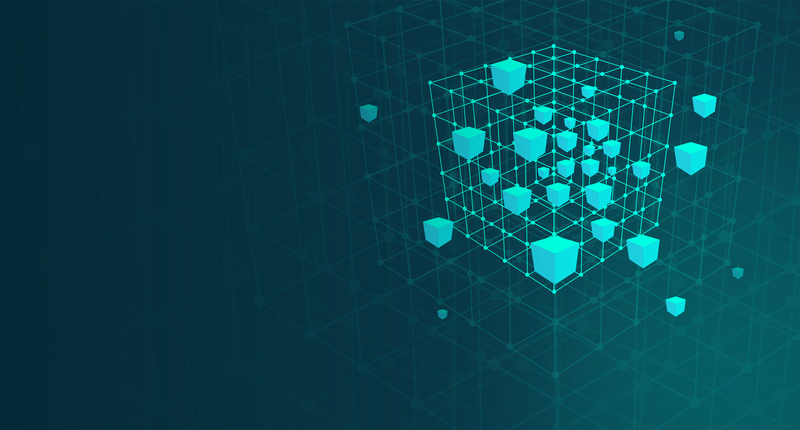 Cube mesh - abstract - big data and data mining concept photo