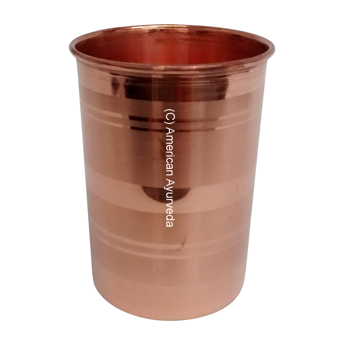 Pure Copper Cup / Glass Water Tumbler 8 Oz or 10 Oz for yoga health ...